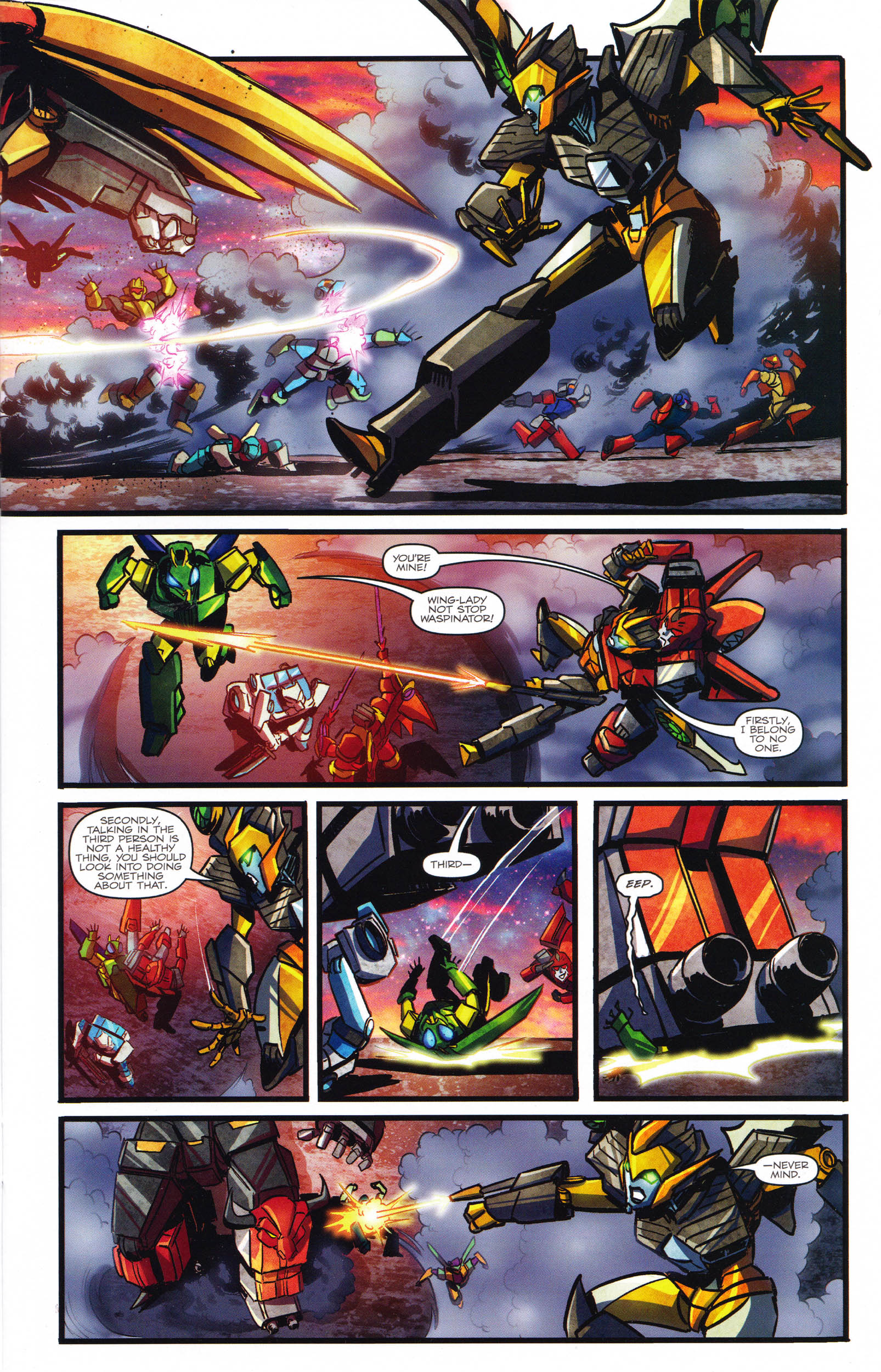 Read online Transformers: Dawn of the Predacus comic -  Issue # Full - 12