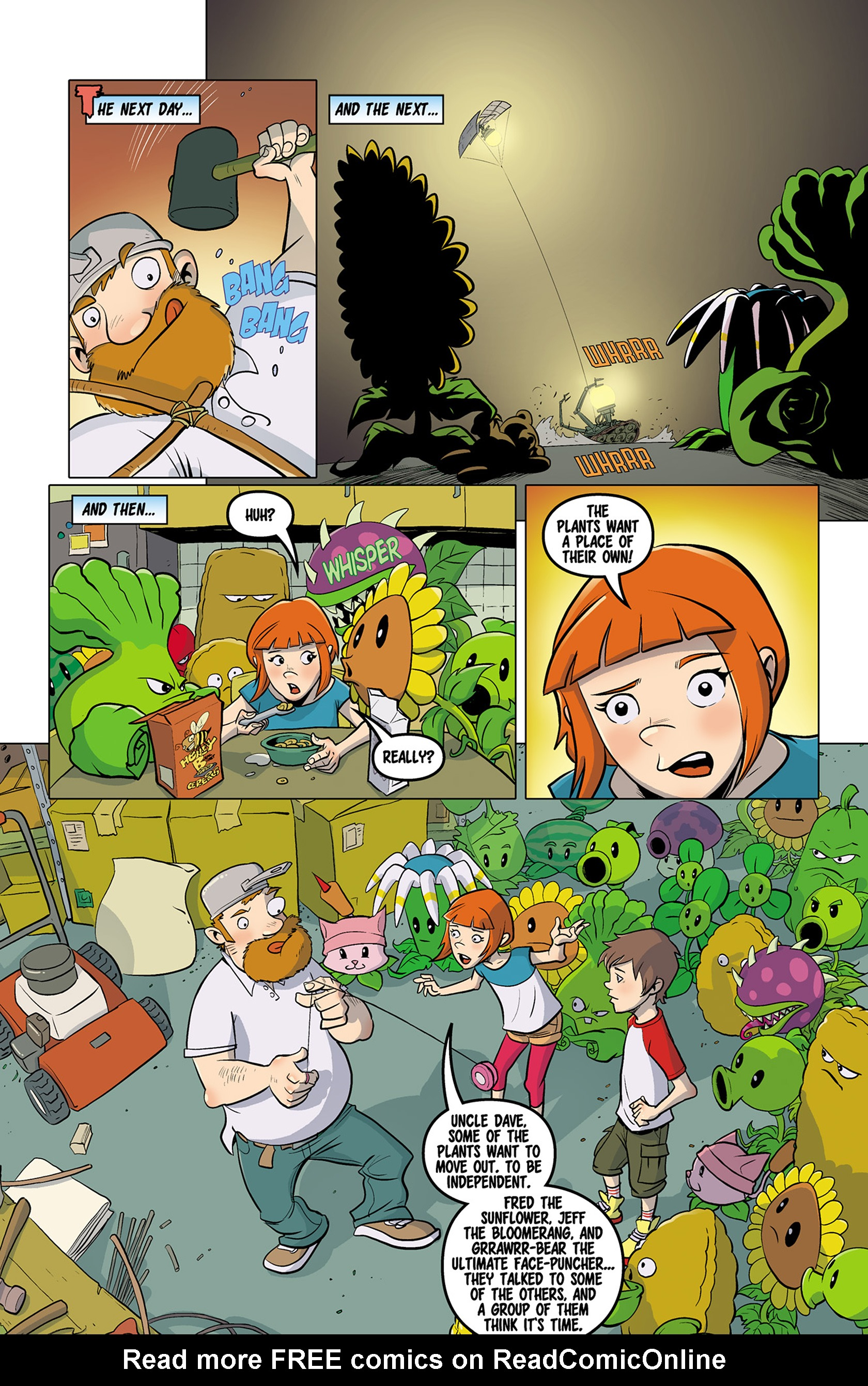 Plants vs Zombies Grown Sweet Home Issue 4 | Viewcomic