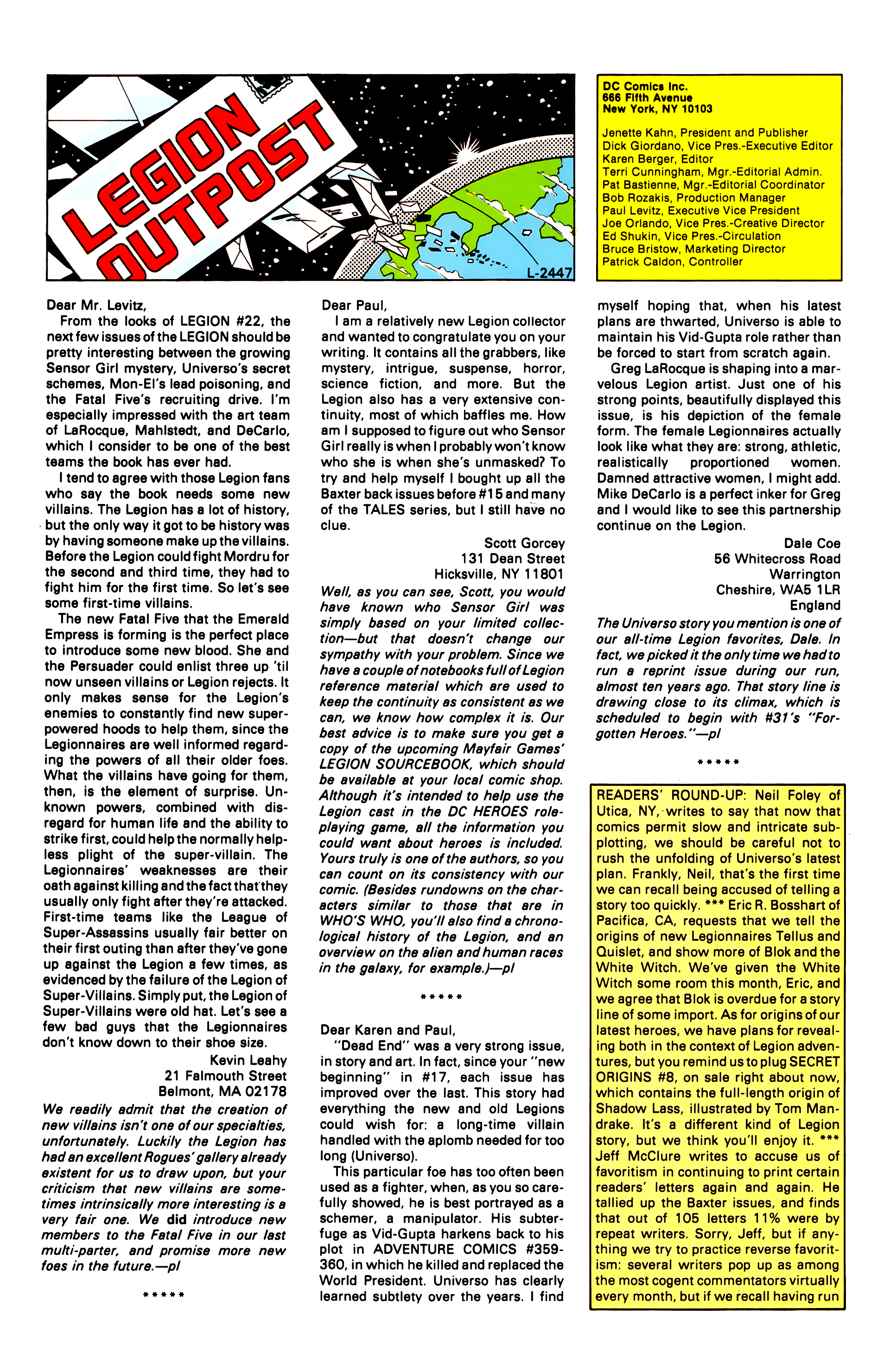 Legion of Super-Heroes (1984) 28 Page 30