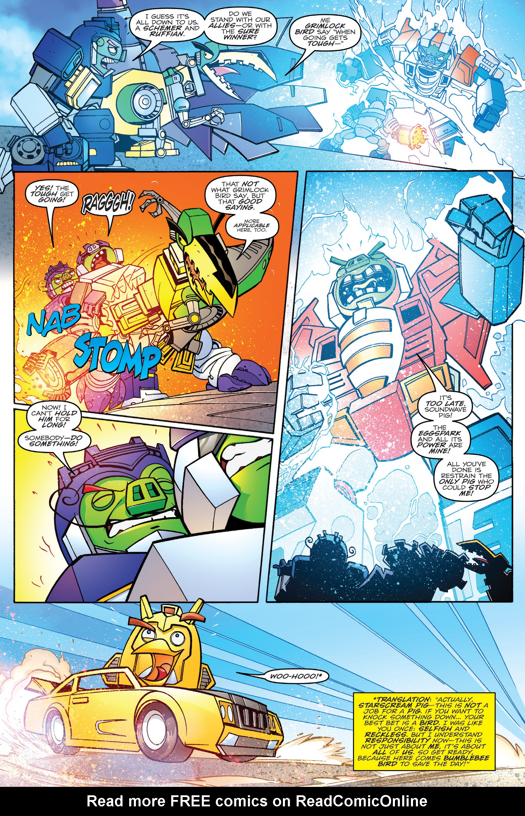 Read online Angry Birds Transformers: Age of Eggstinction comic -  Issue # Full - 85