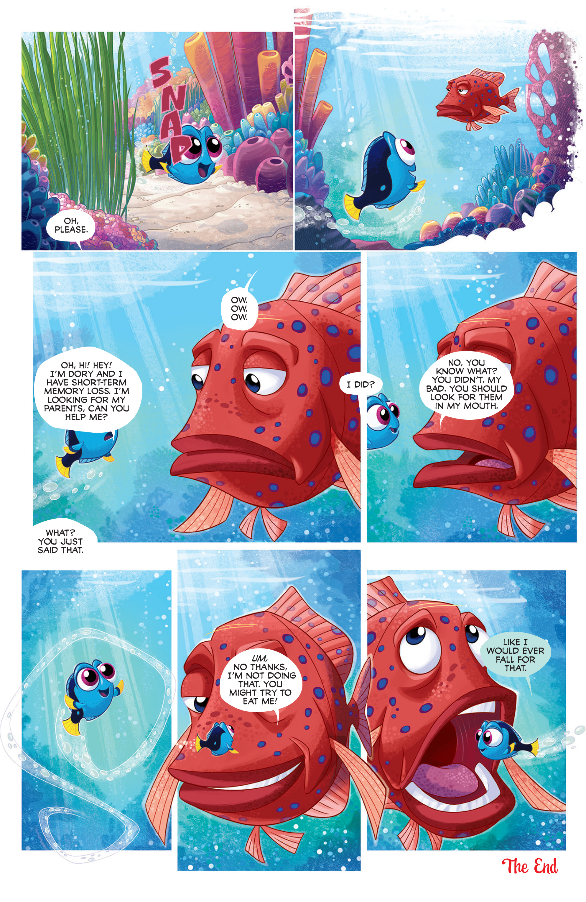 Read online Disney Pixar Finding Dory comic -  Issue #2 - 5