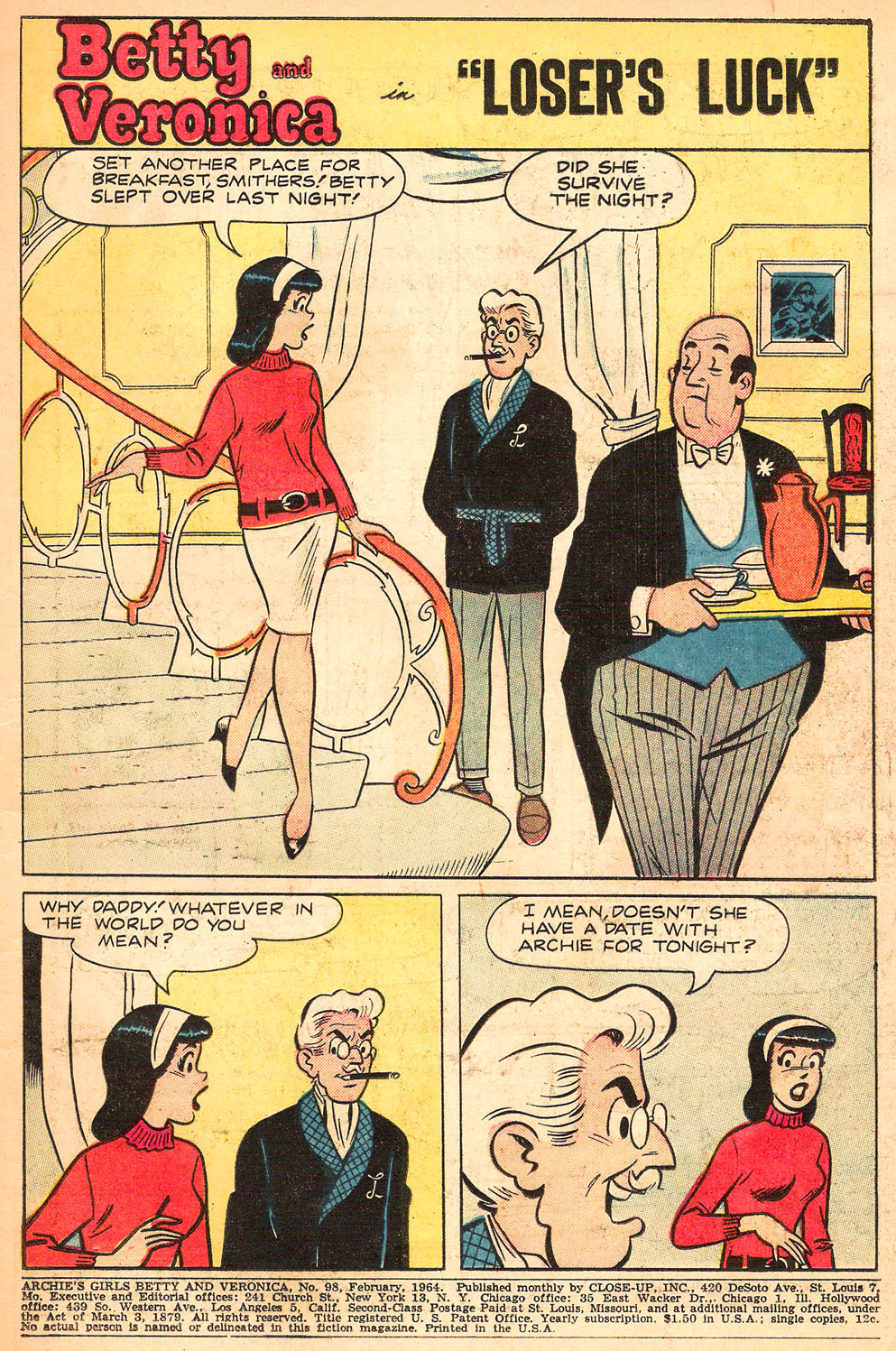 Read online Archie's Girls Betty and Veronica comic -  Issue #98 - 3