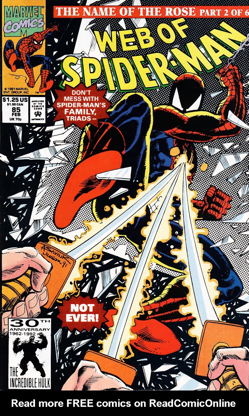 Web of Spider-Man (1985) 85 Page 1