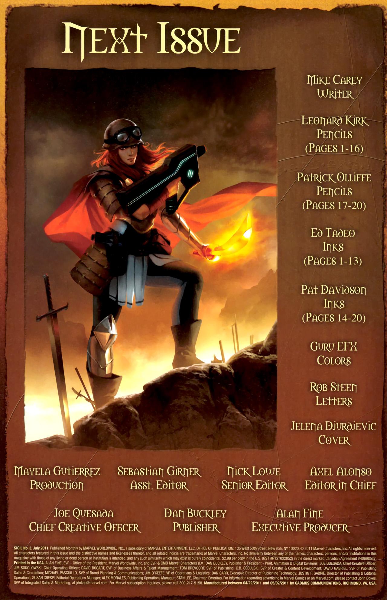 Read online Sigil (2011) comic -  Issue #3 - 23