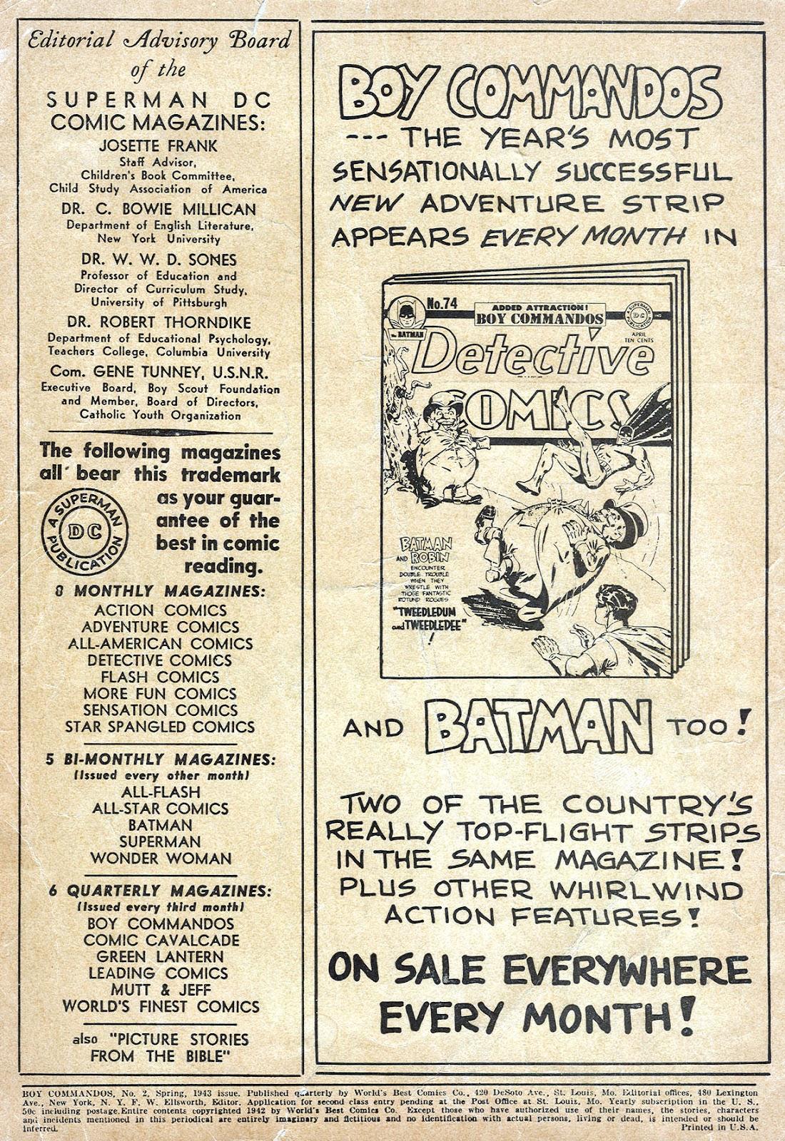 Boy Commandos issue 2 - Page 2