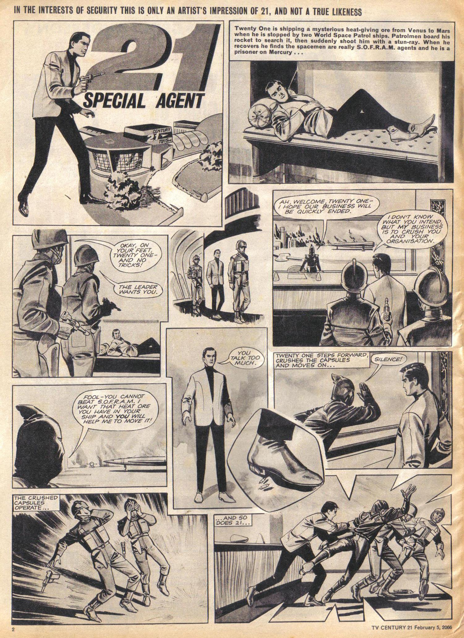 Read online TV Century 21 (TV 21) comic -  Issue #55 - 2