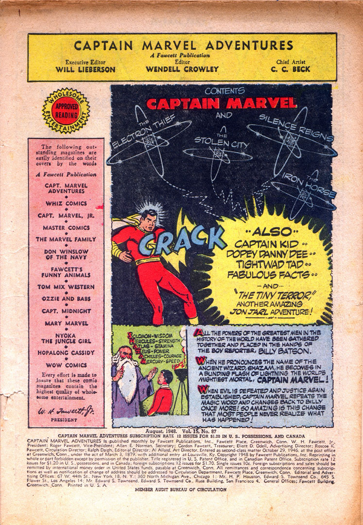 Captain Marvel Adventures issue 87 - Page 3