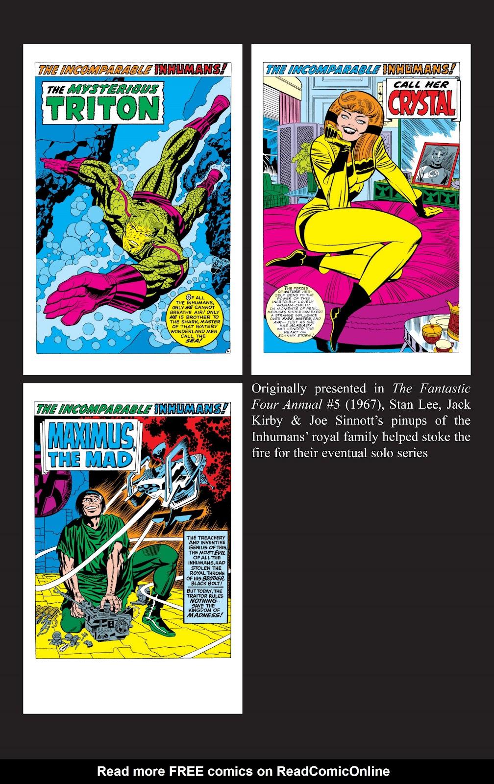 Read online Marvel Masterworks: The Inhumans comic -  Issue # TPB 2 (Part 3) - 117