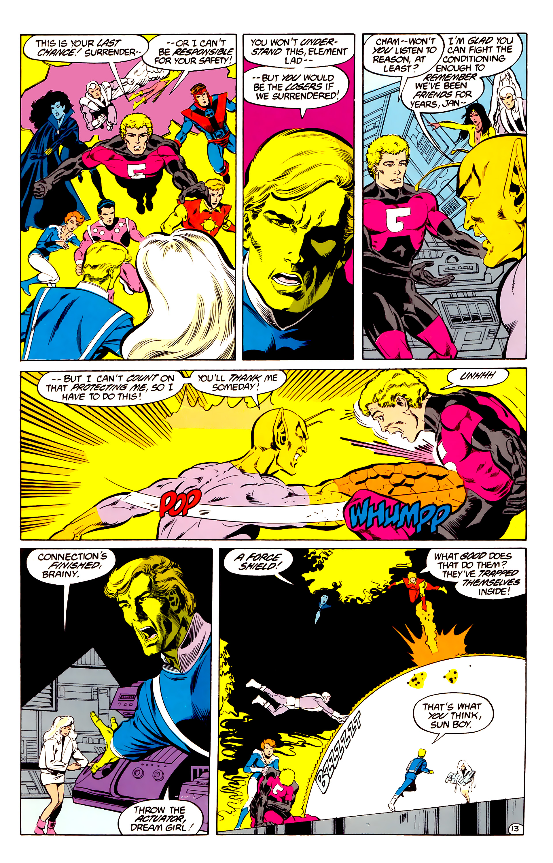 Legion of Super-Heroes (1984) 35 Page 13