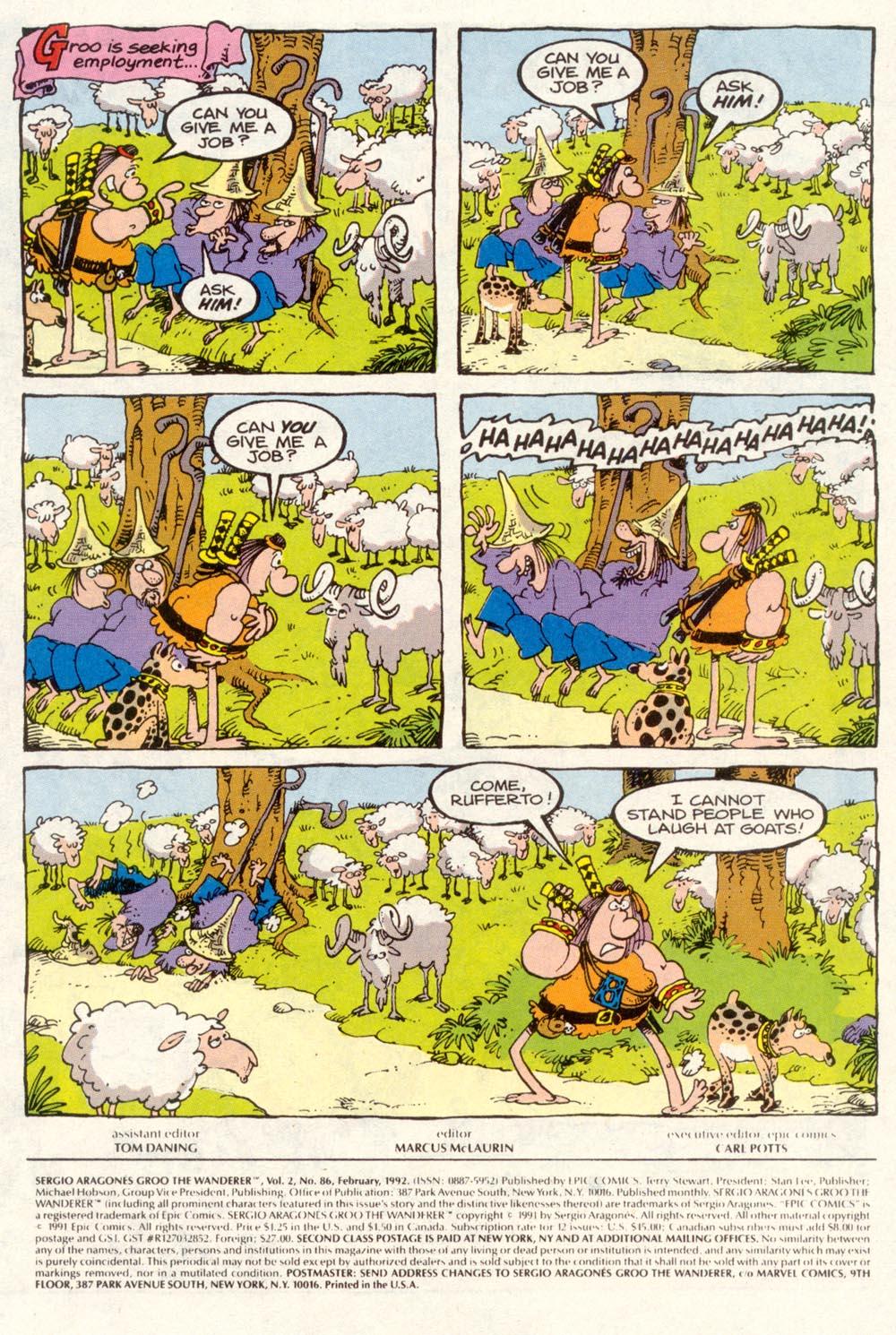Read online Sergio Aragonés Groo the Wanderer comic -  Issue #86 - 2