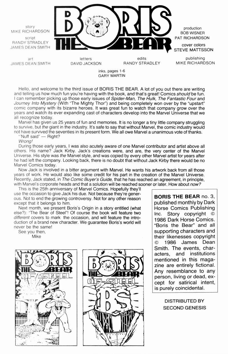 Boris The Bear 3 Page 2