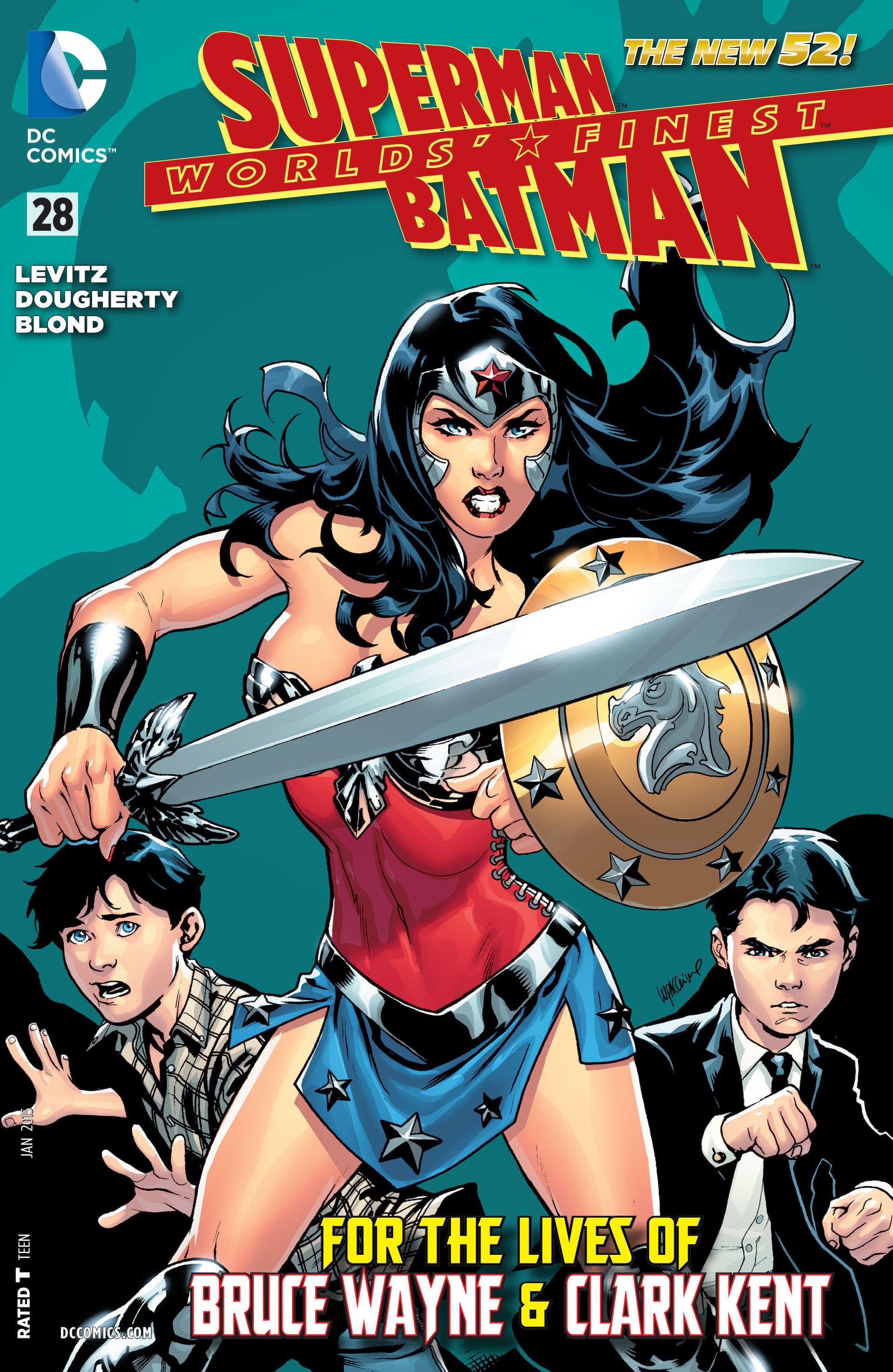 Read online Worlds' Finest comic -  Issue #28 - 1