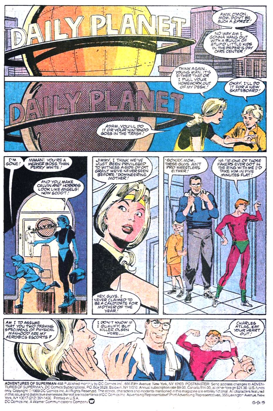 Read online Adventures of Superman (1987) comic -  Issue #458 - 2