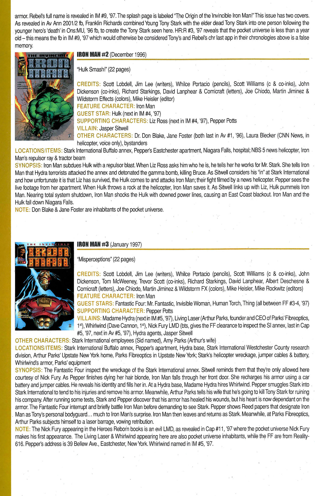 Read online Official Index to the Marvel Universe comic -  Issue #9 - 42
