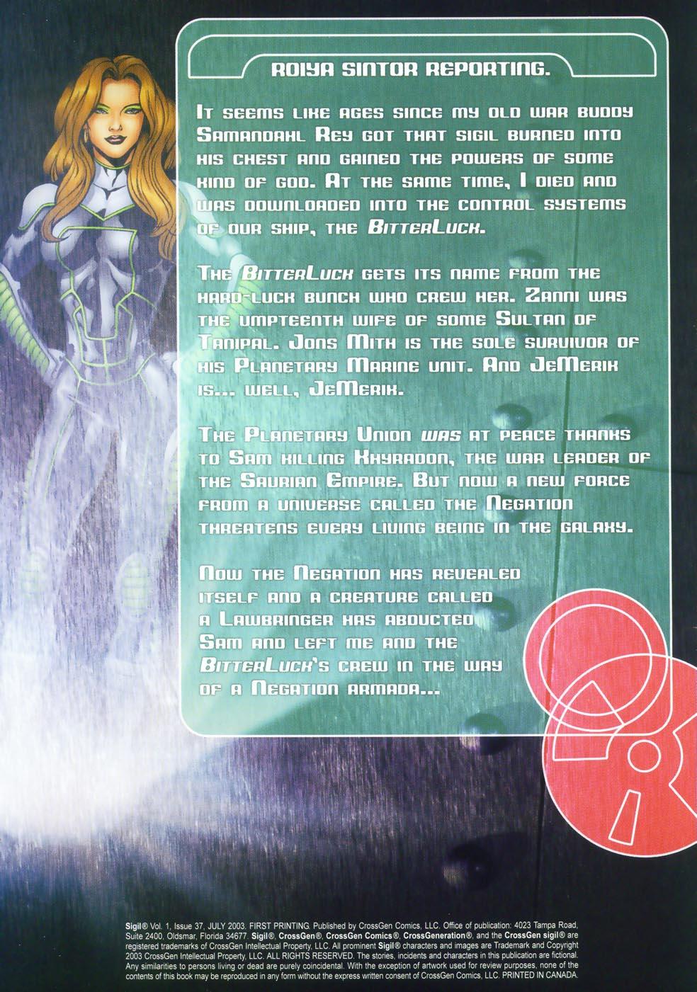 Read online Sigil (2000) comic -  Issue #37 - 4