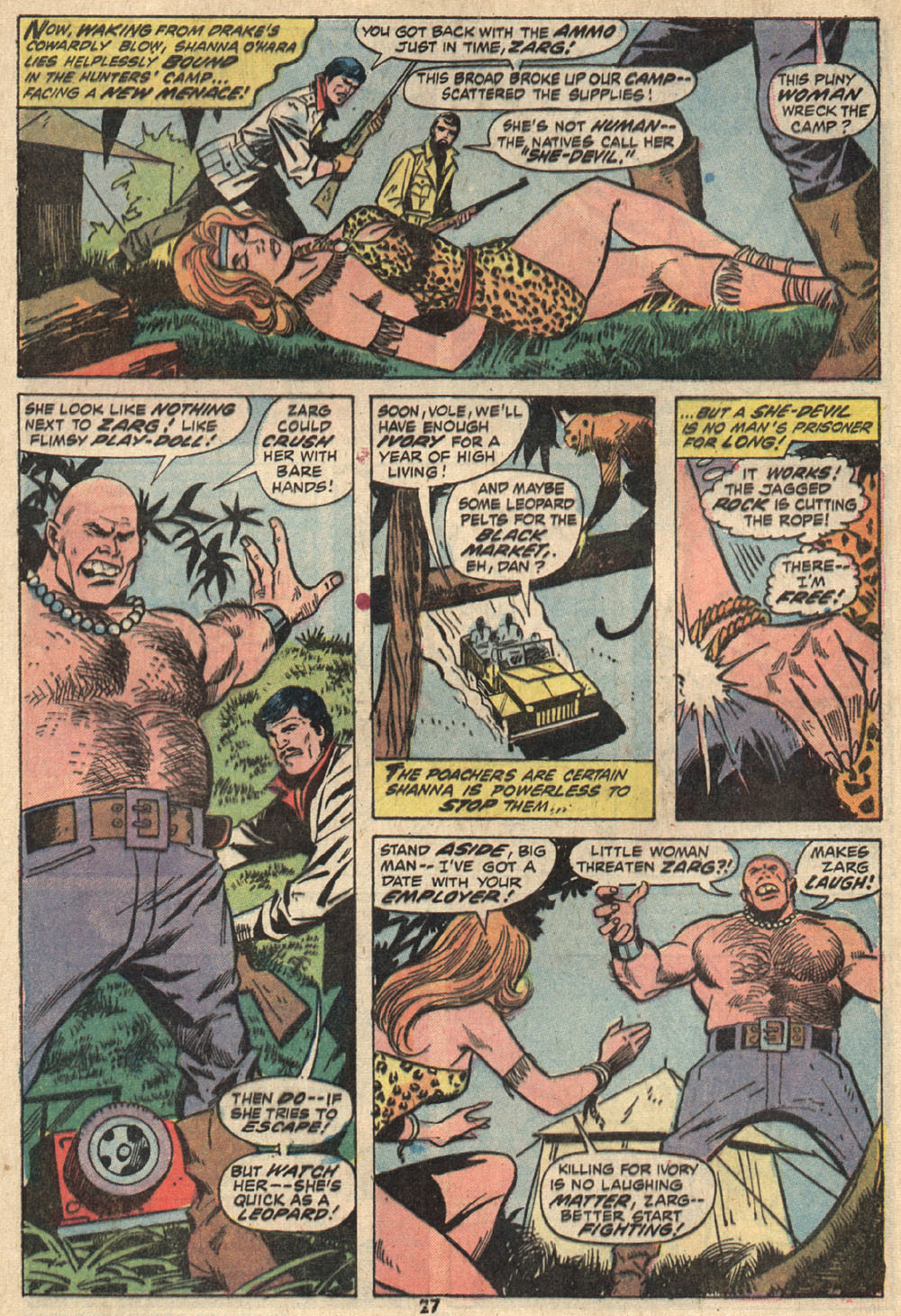 Read online Shanna, the She-Devil (1972) comic -  Issue #1 - 19
