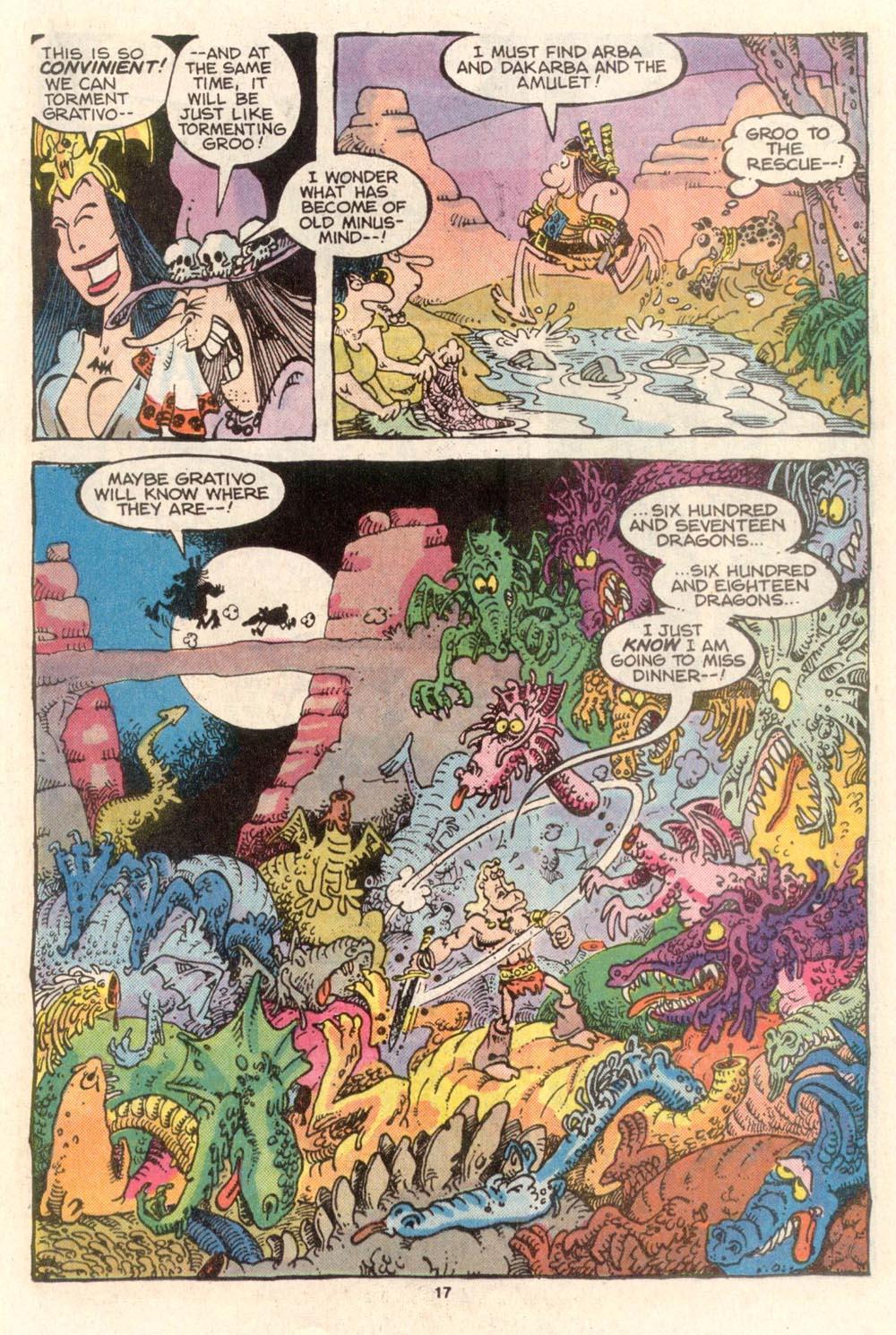 Read online Sergio Aragonés Groo the Wanderer comic -  Issue #36 - 17