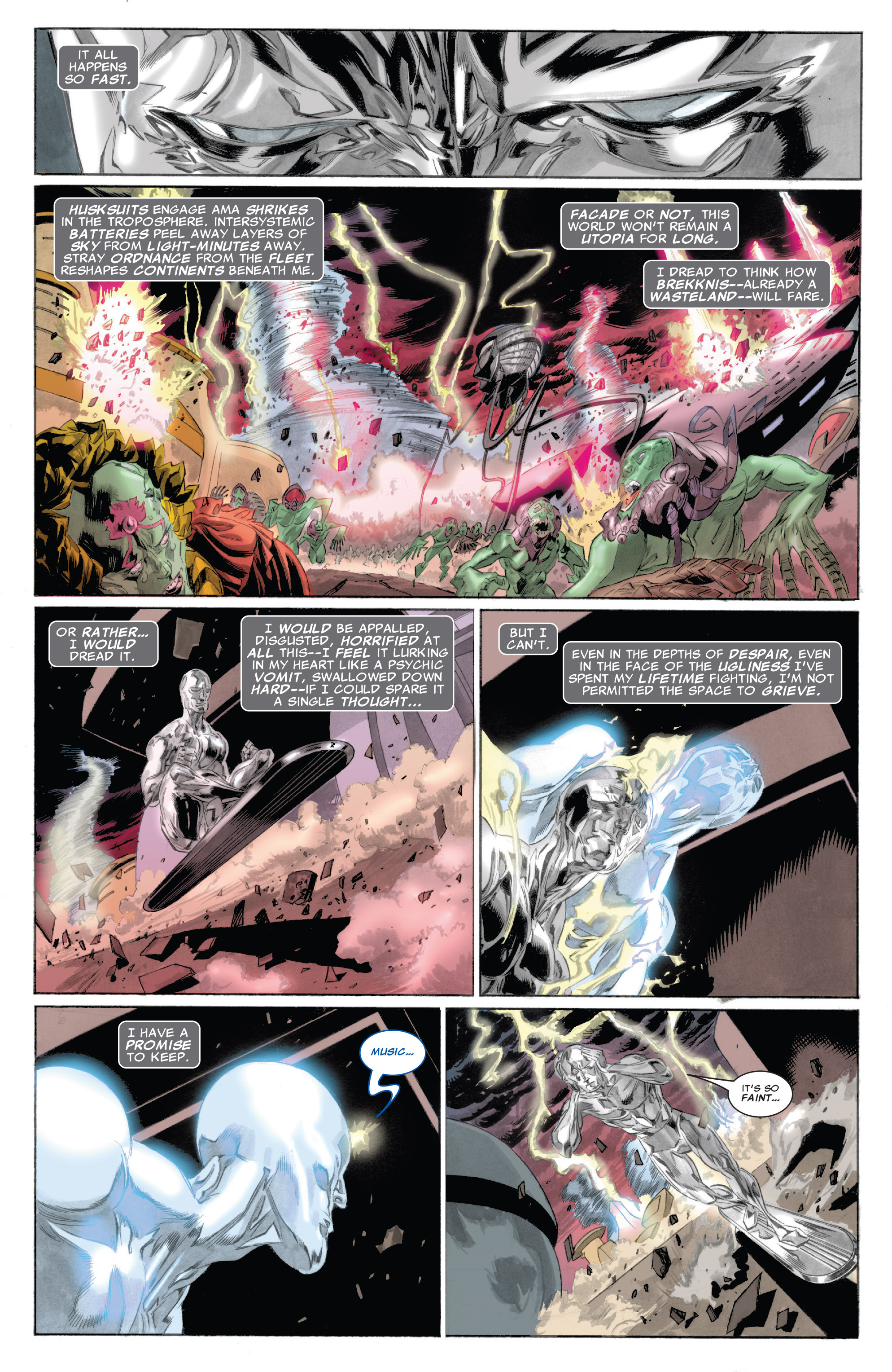 Read online Silver Surfer: In Thy Name comic -  Issue #4 - 16