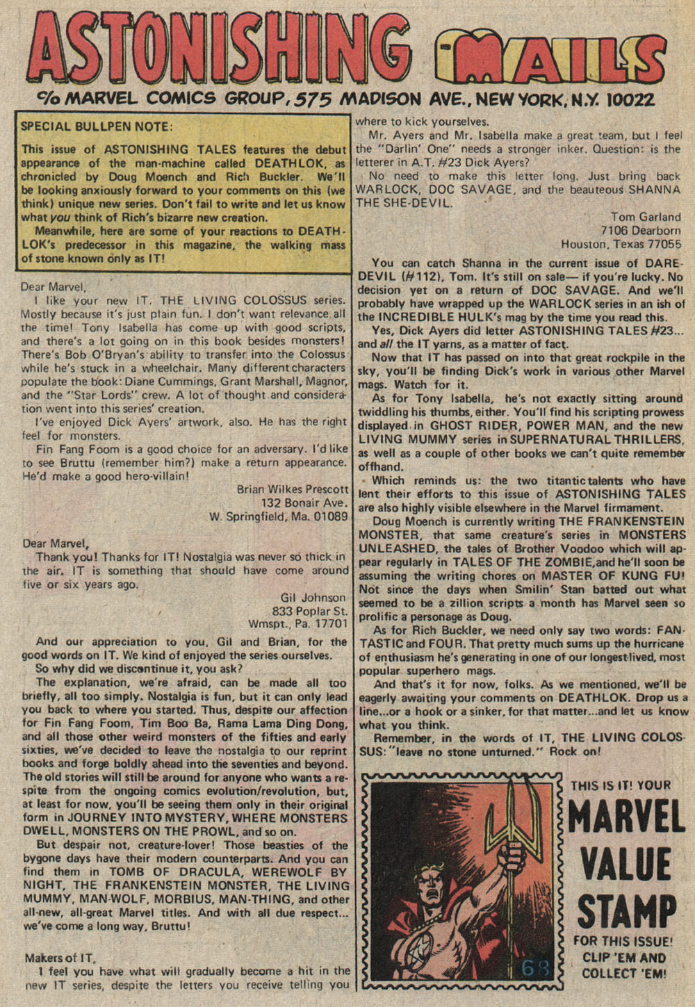Read online Astonishing Tales (1970) comic -  Issue #25 - 22