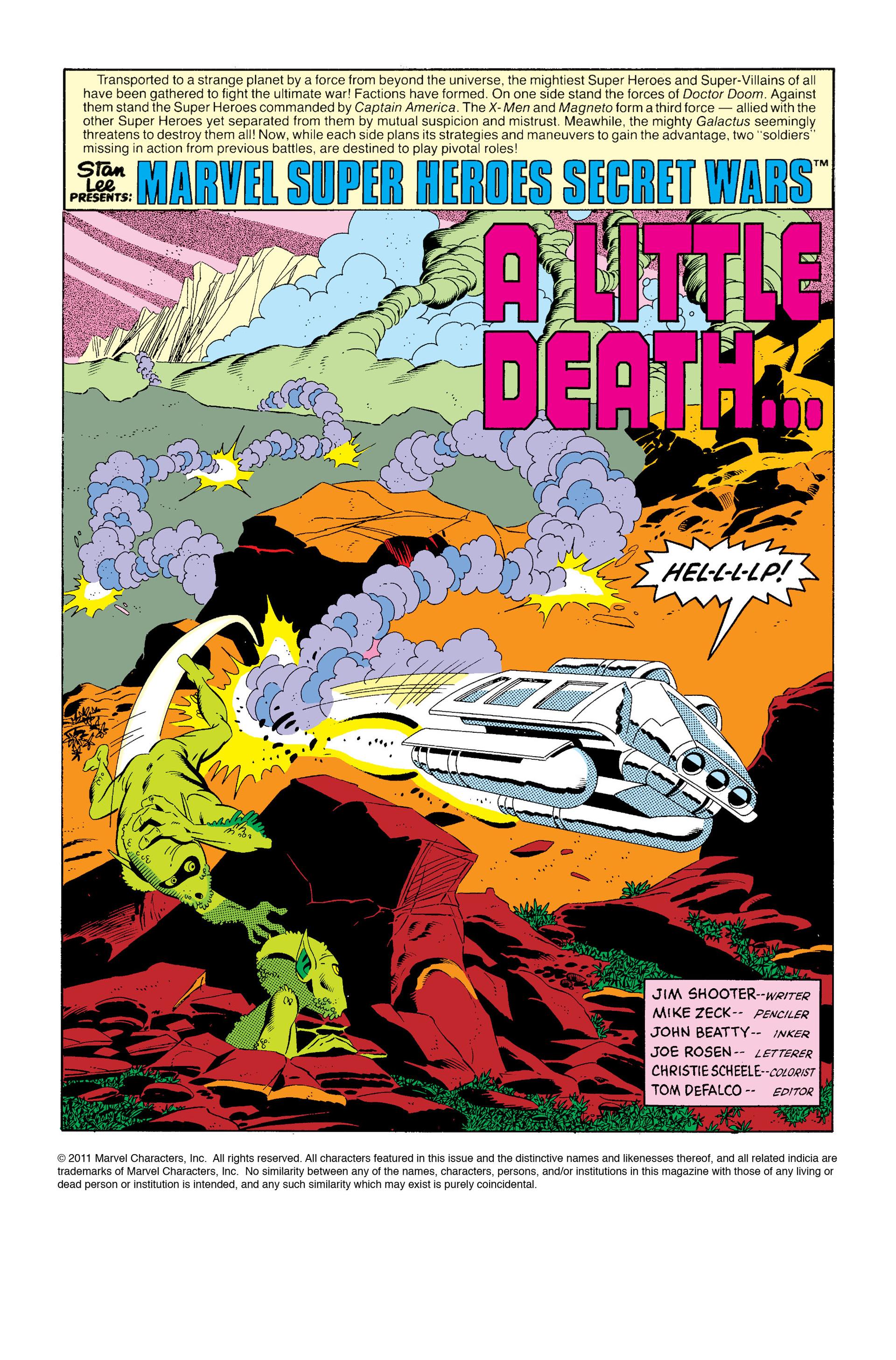 Read online Secret Wars (1985) comic -  Issue #6 - 2