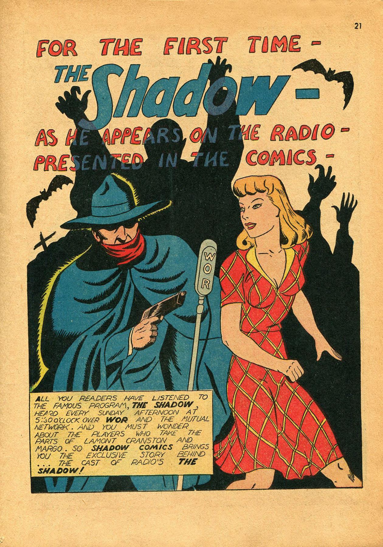 Read online Shadow Comics comic -  Issue #23 - 21