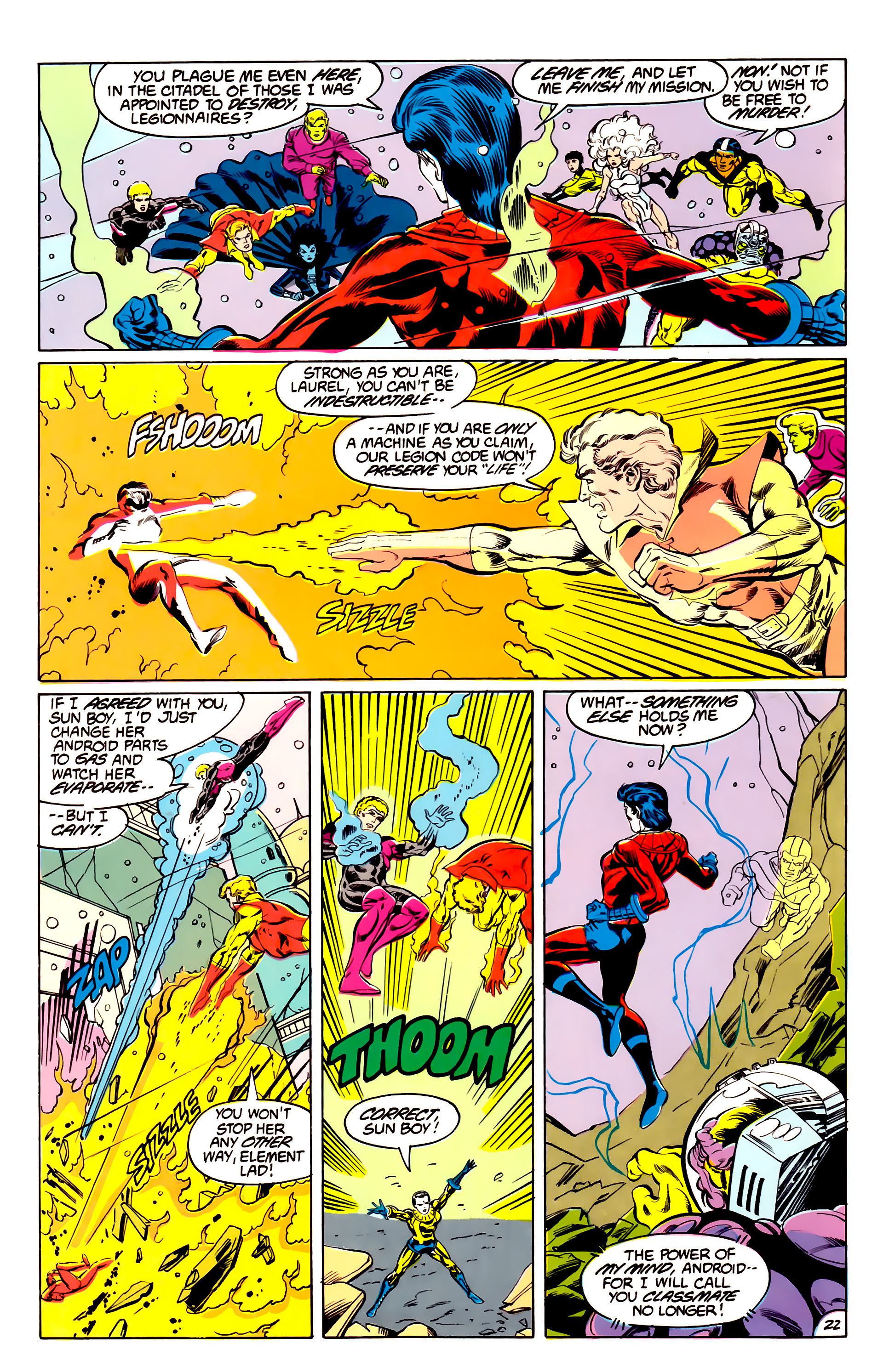 Legion of Super-Heroes (1984) 43 Page 22