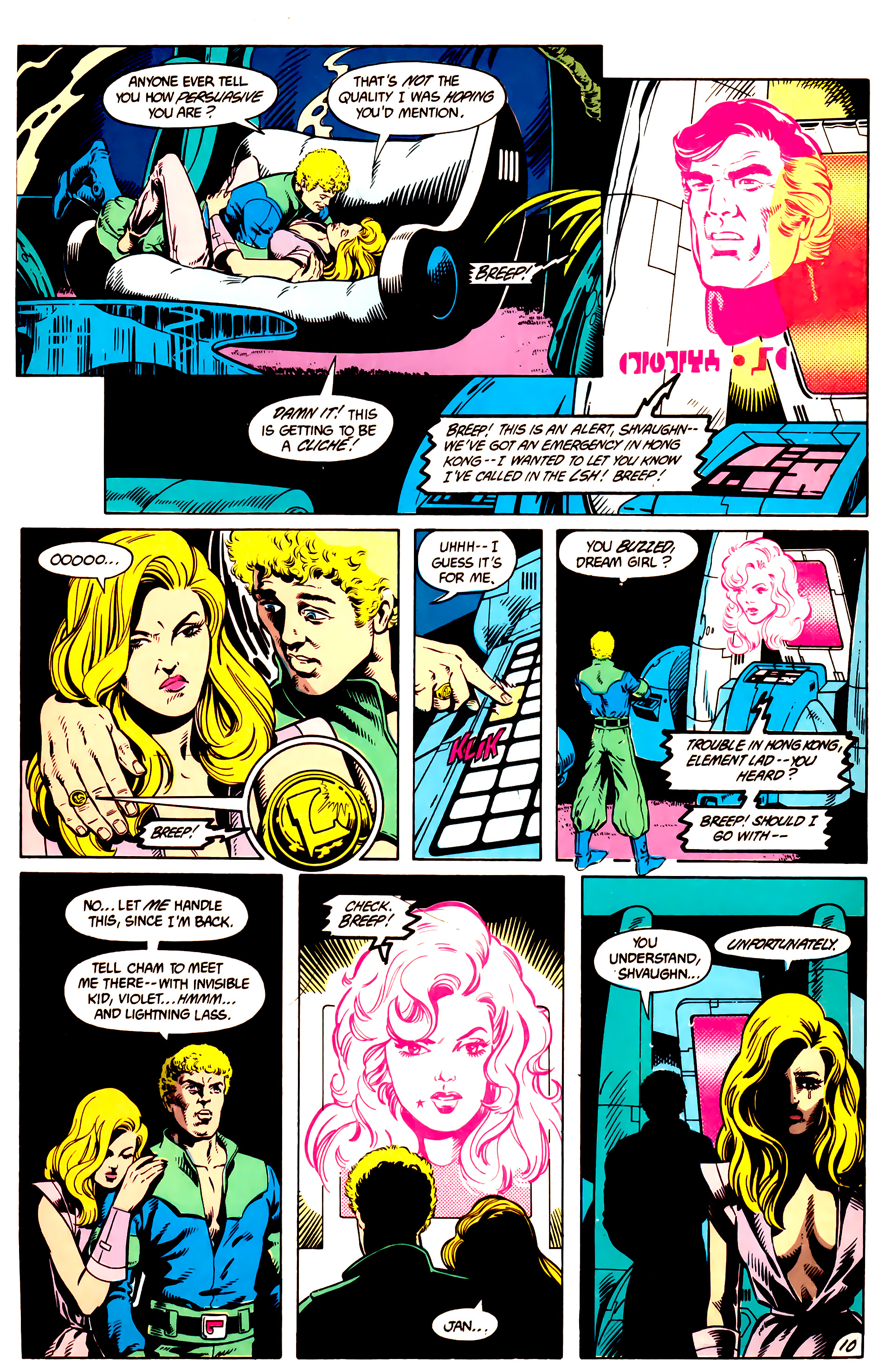 Legion of Super-Heroes (1984) 9 Page 11