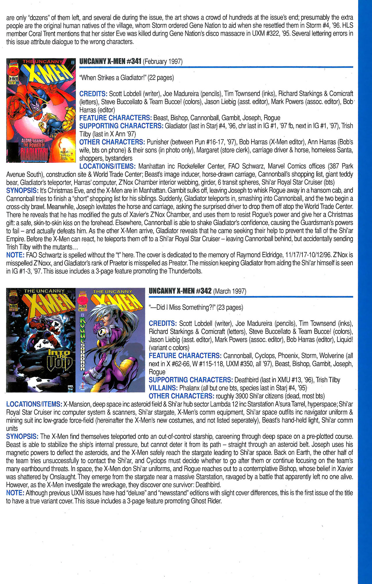 Read online Official Index to the Marvel Universe comic -  Issue #9 - 47