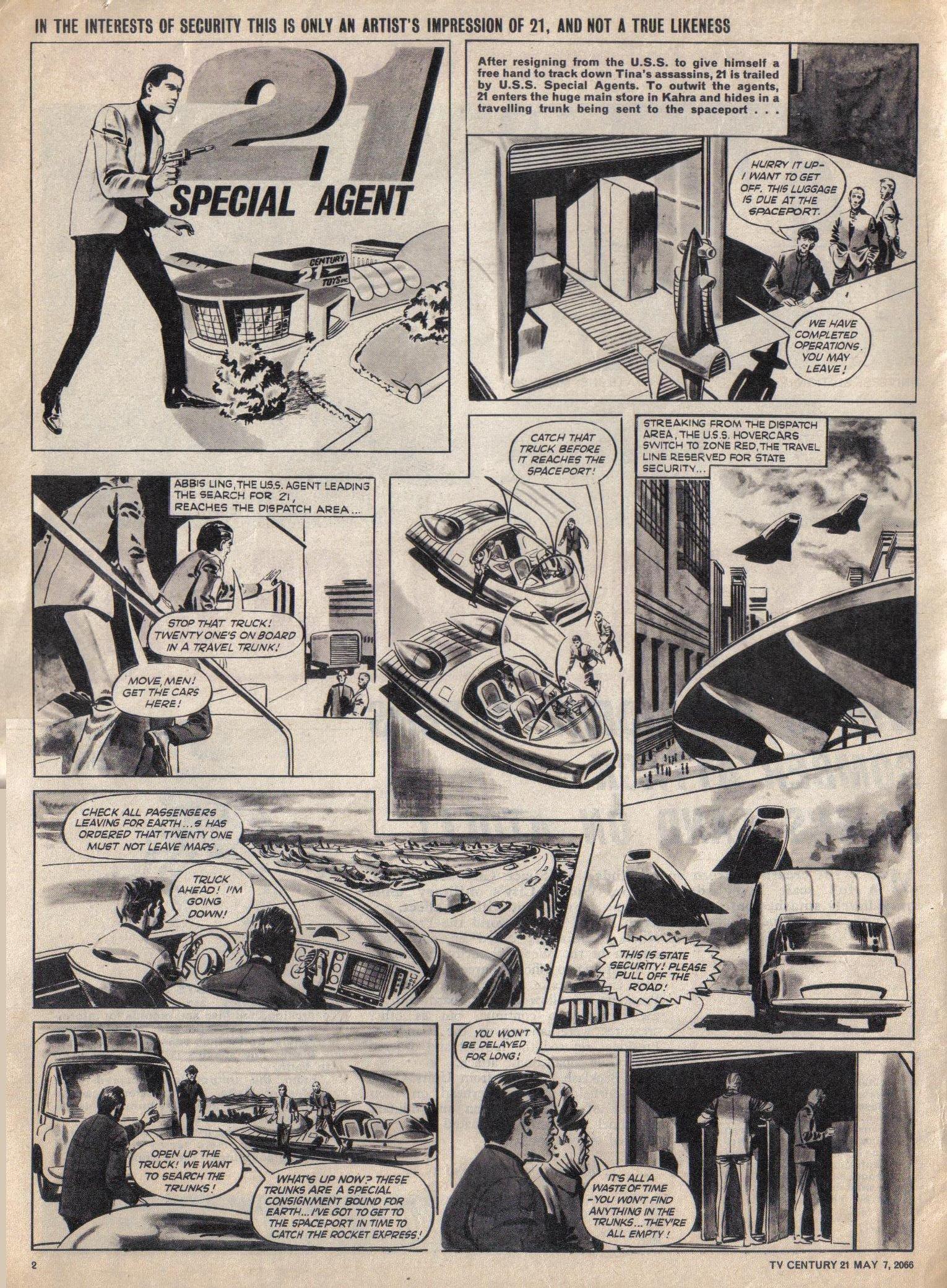 Read online TV Century 21 (TV 21) comic -  Issue #68 - 2