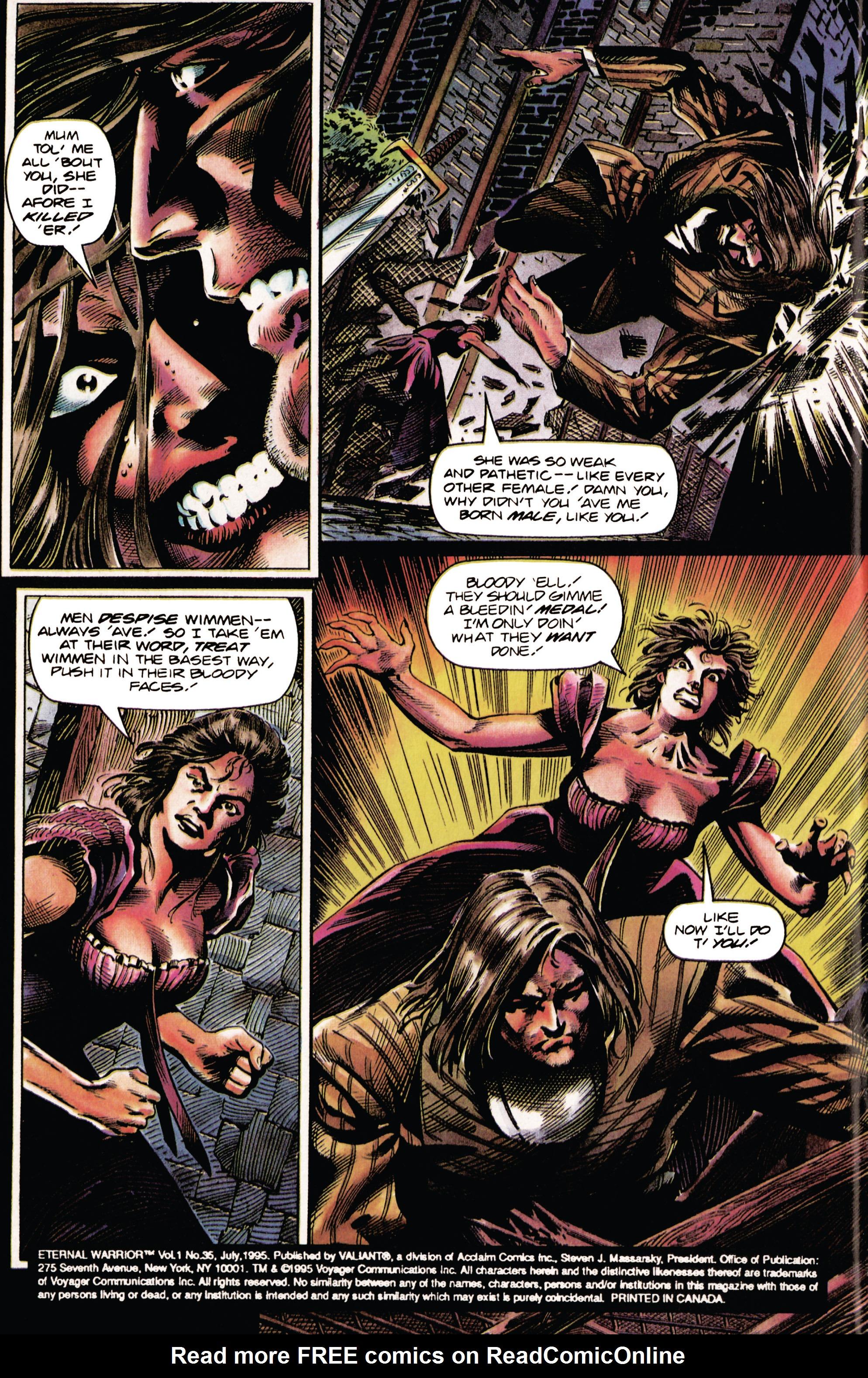 Read online Eternal Warrior (1992) comic -  Issue #35 - 3