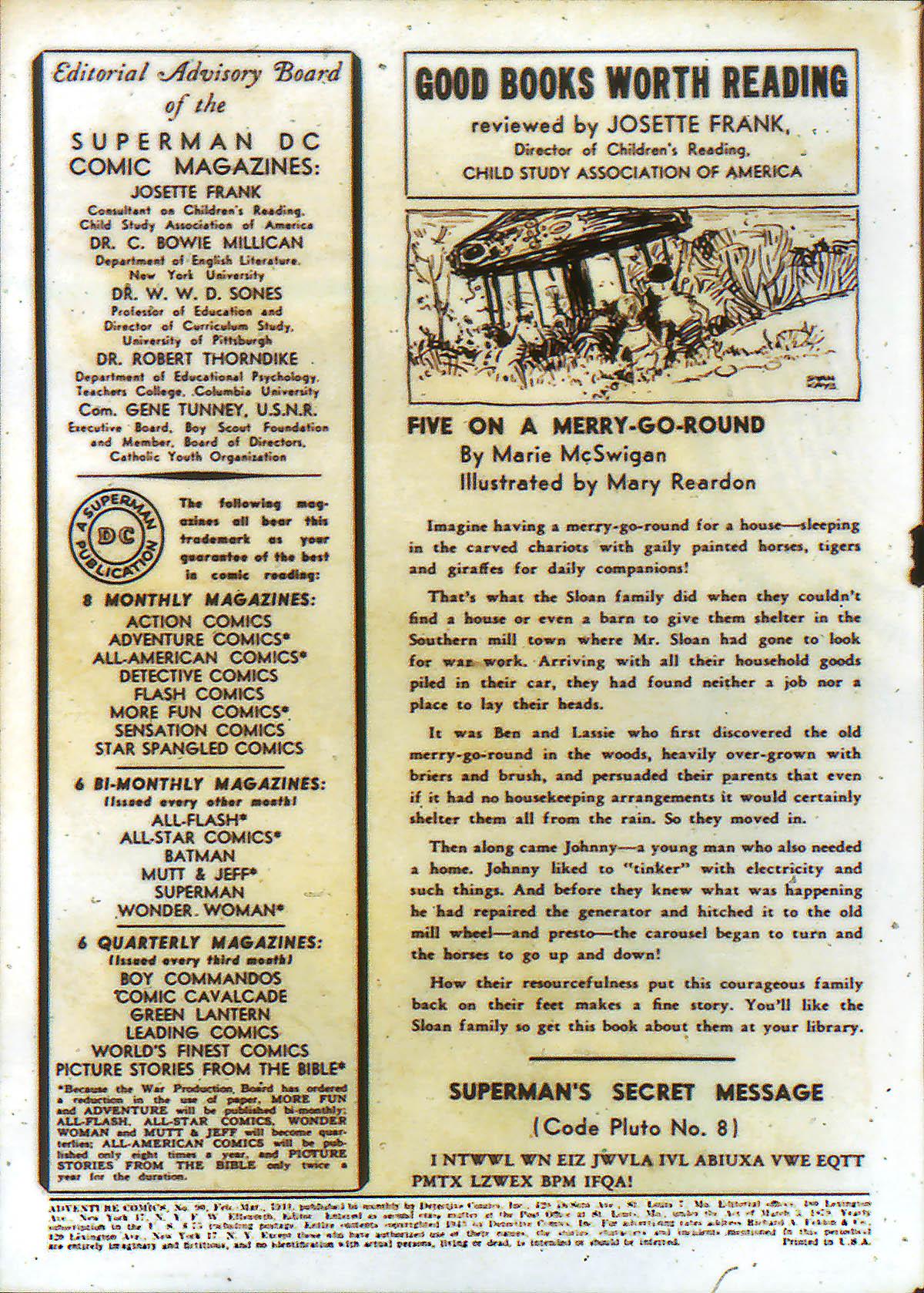 Read online Adventure Comics (1938) comic -  Issue #90 - 2