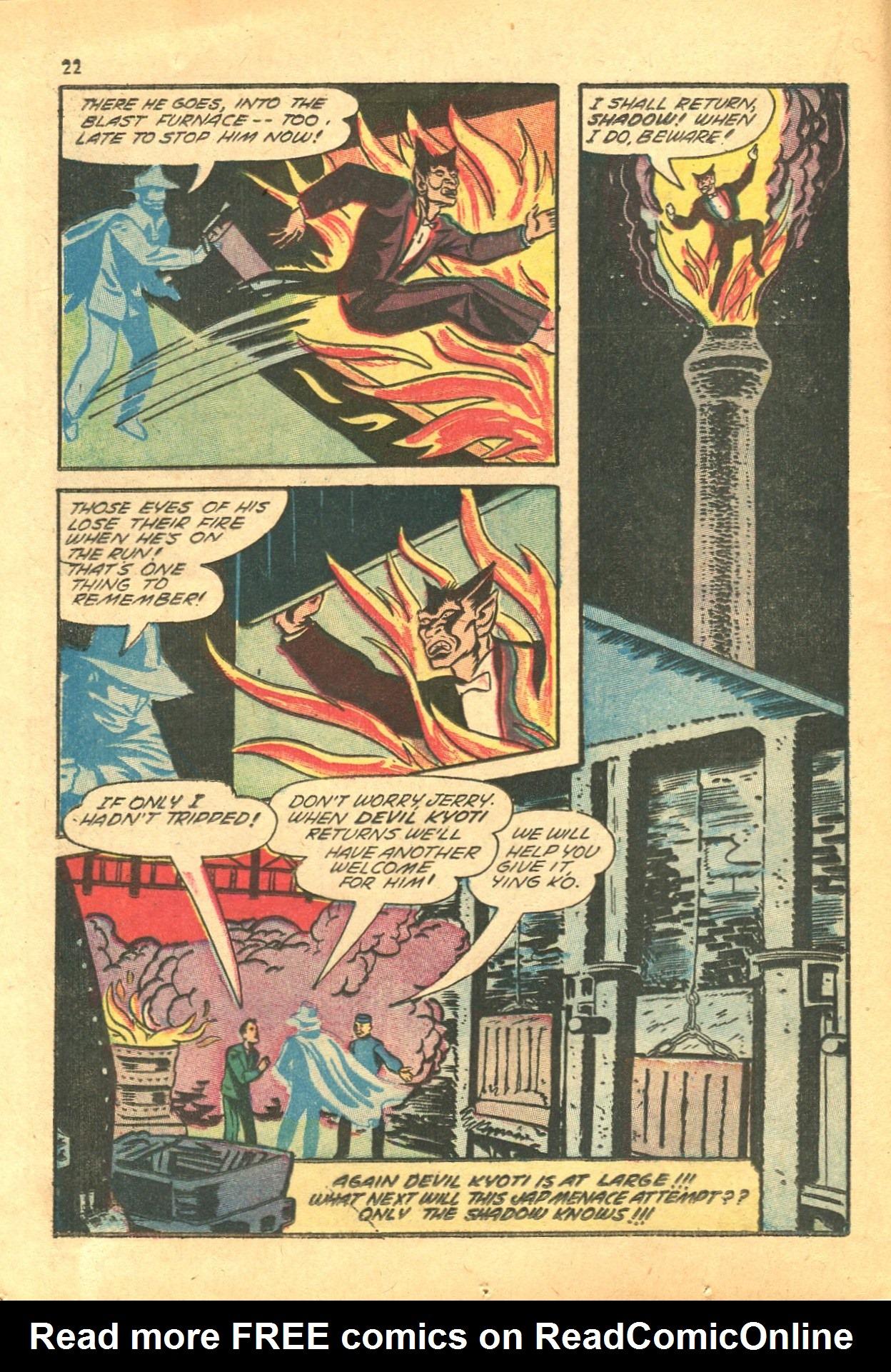 Read online Shadow Comics comic -  Issue #24 - 22