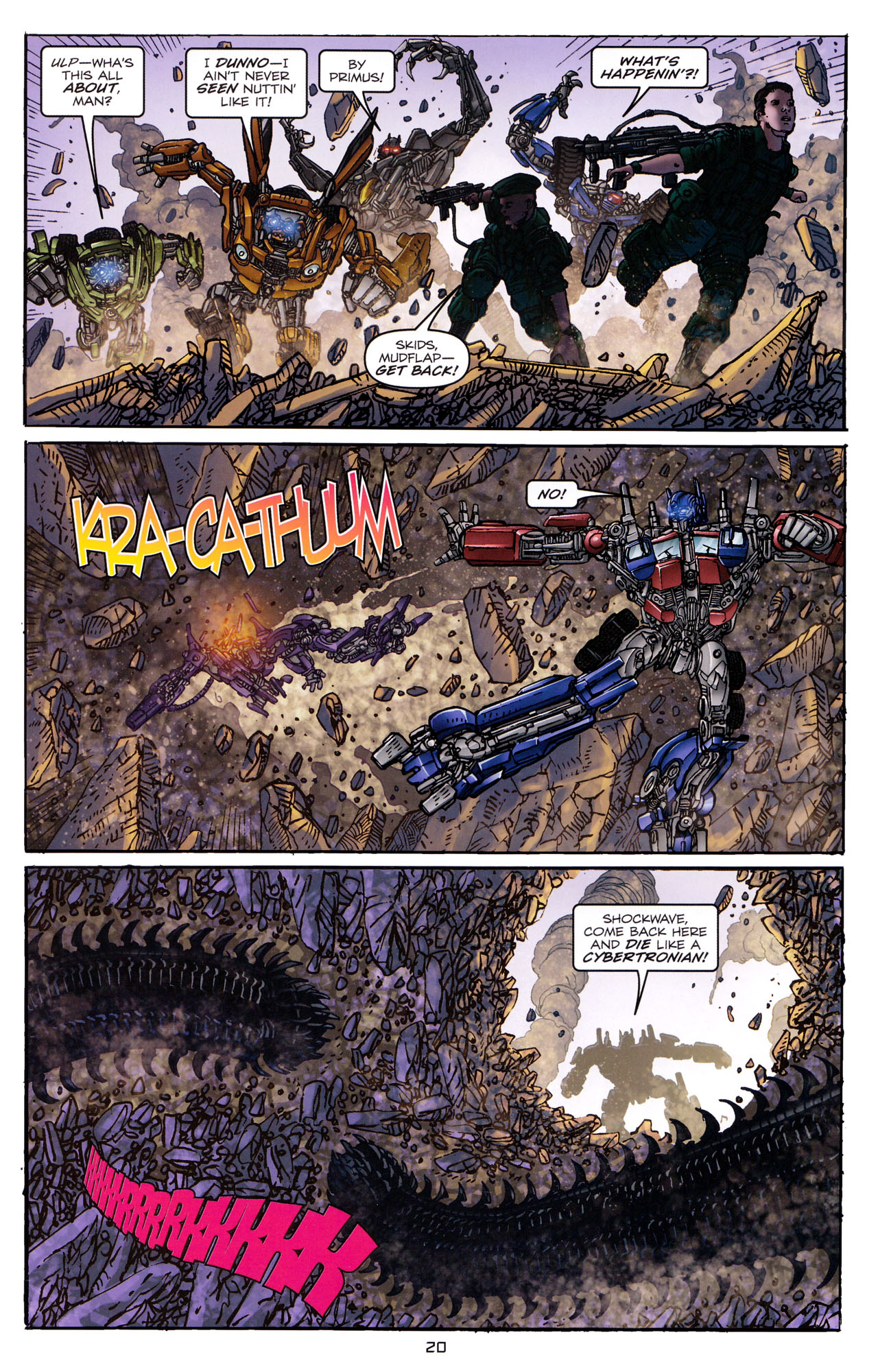 Read online Transformers: Dark of the Moon Rising Storm comic -  Issue #4 - 21