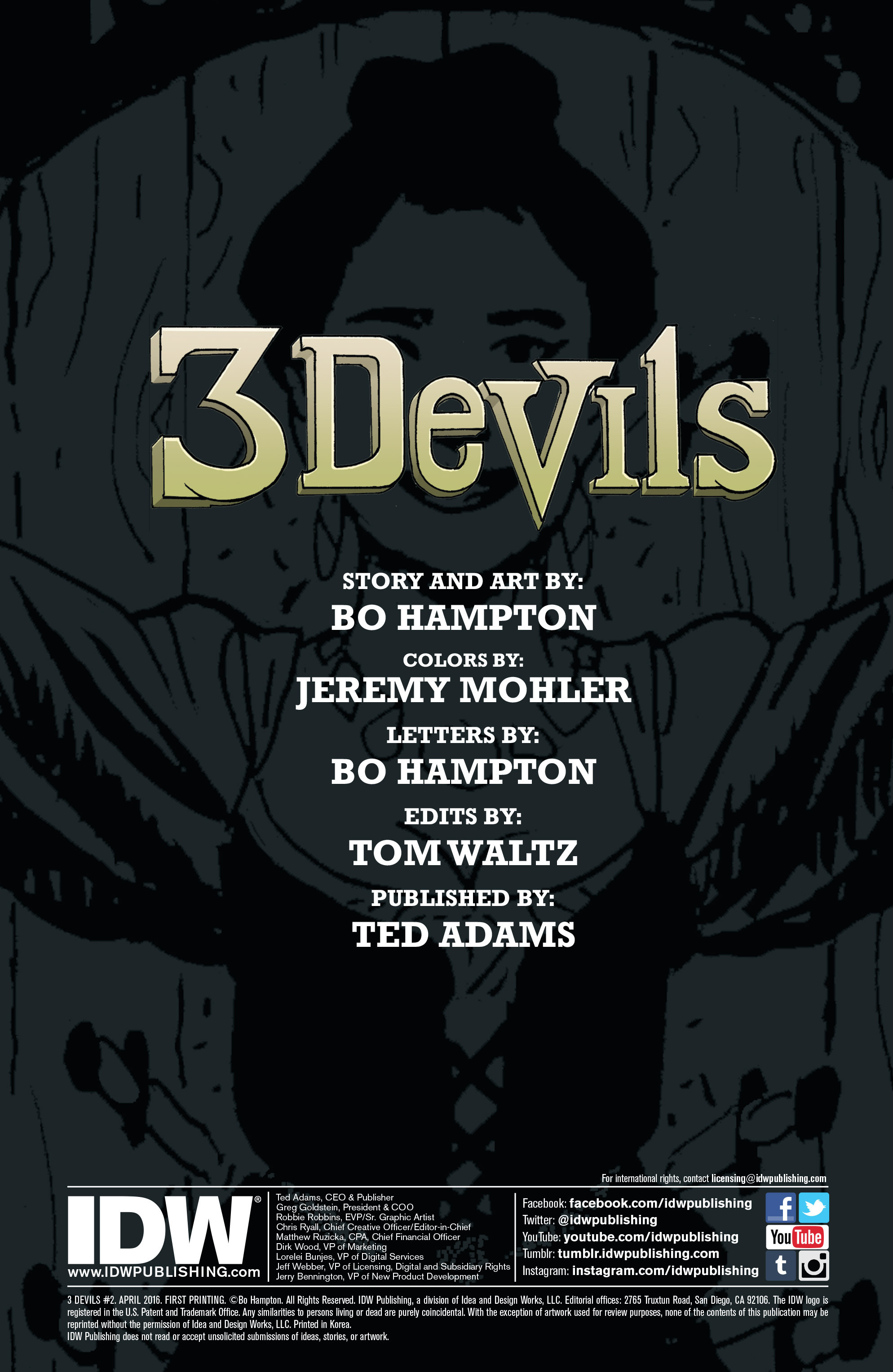 Read online 3 Devils comic -  Issue #2 - 2