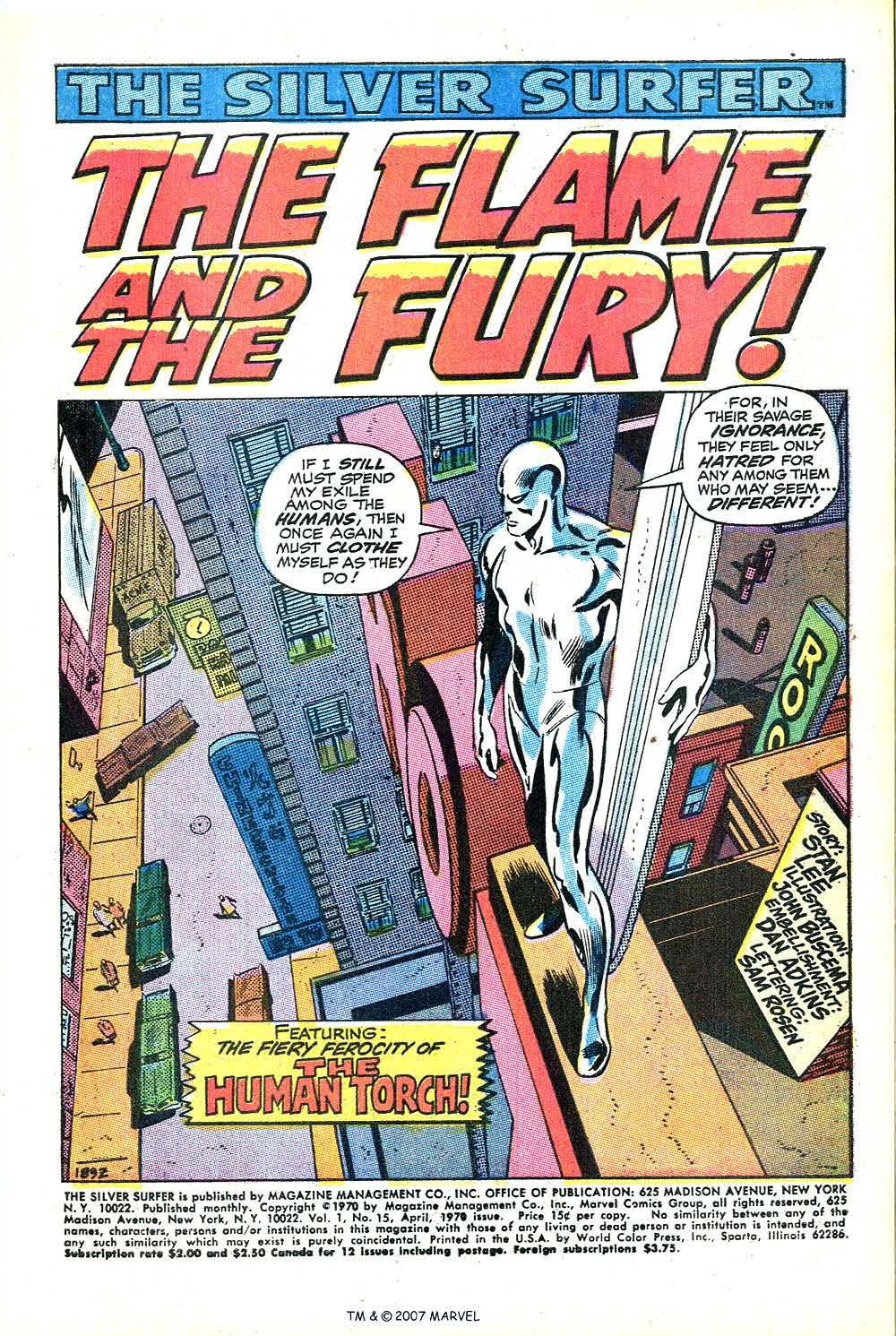 Read online Silver Surfer (1968) comic -  Issue #15 - 3