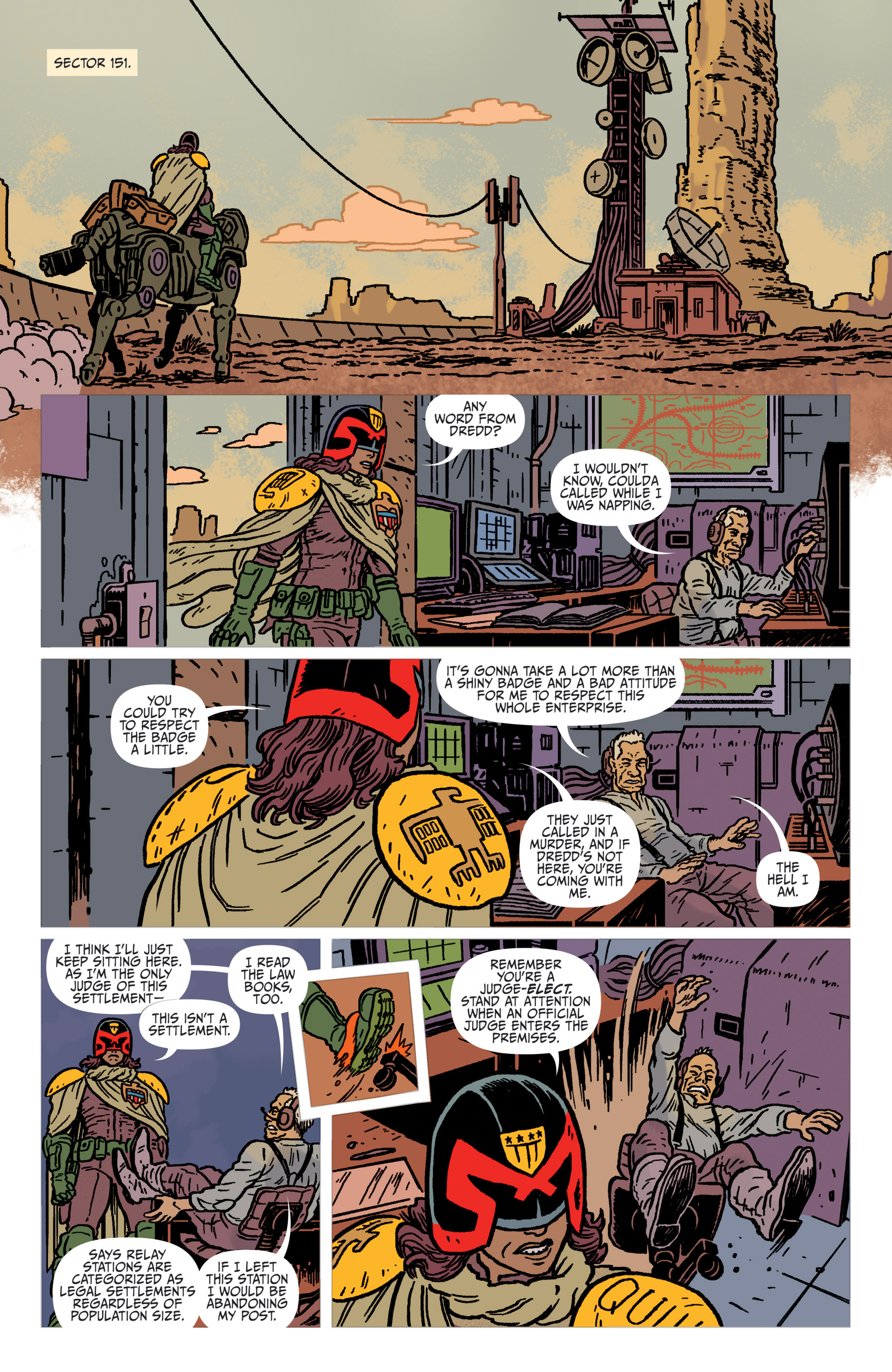 Read online Judge Dredd: The Blessed Earth comic -  Issue #1 - 7