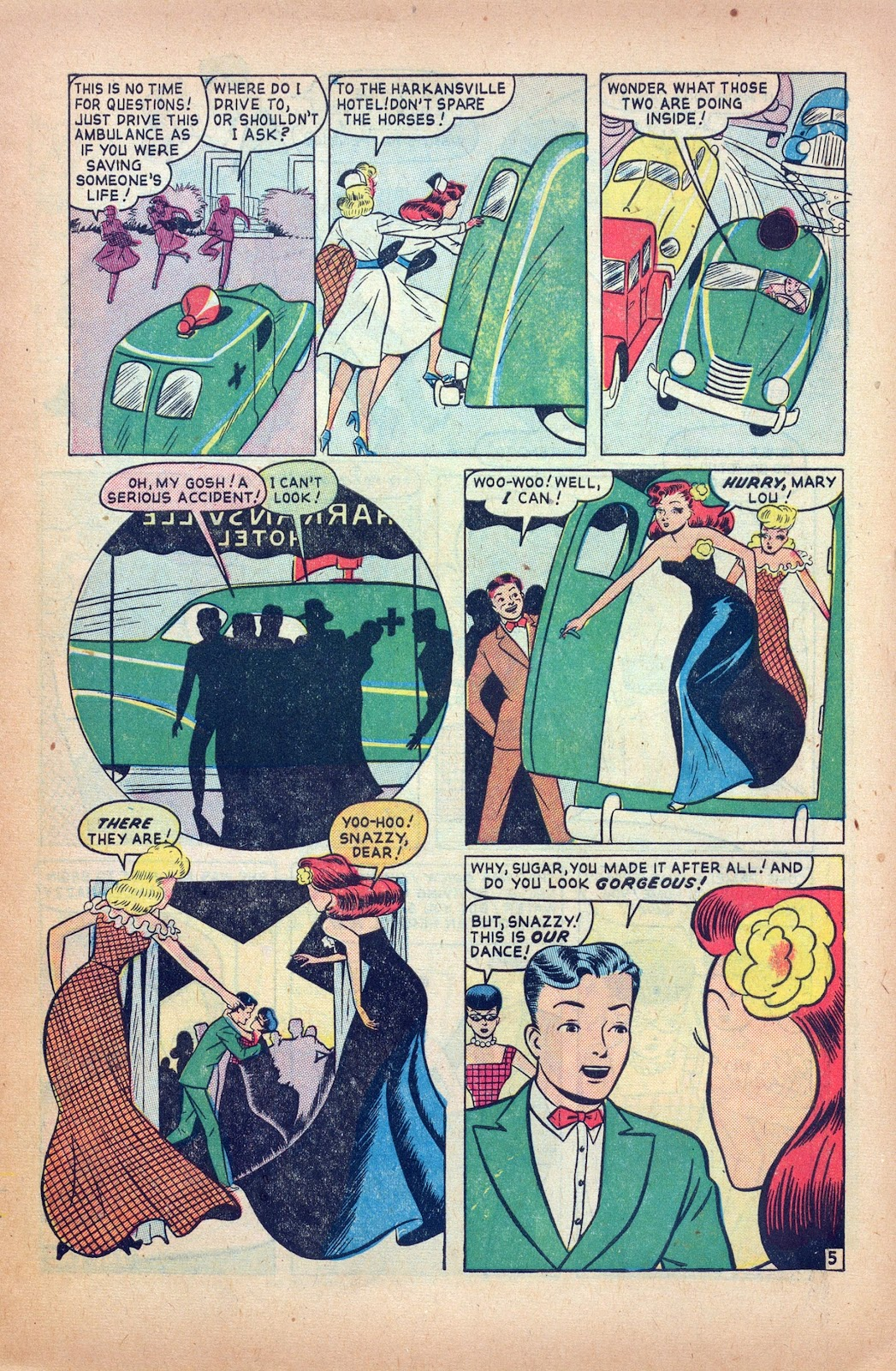 Read online Nellie The Nurse (1945) comic -  Issue #24 - 7
