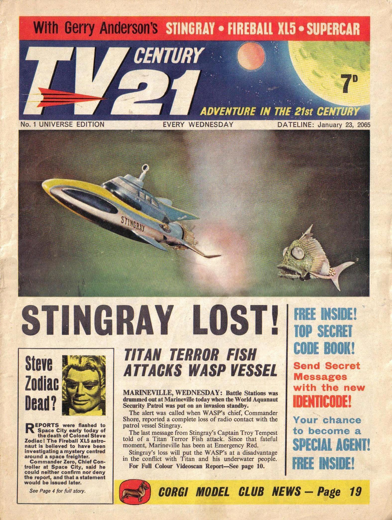 Read online TV Century 21 (TV 21) comic -  Issue #1 - 1