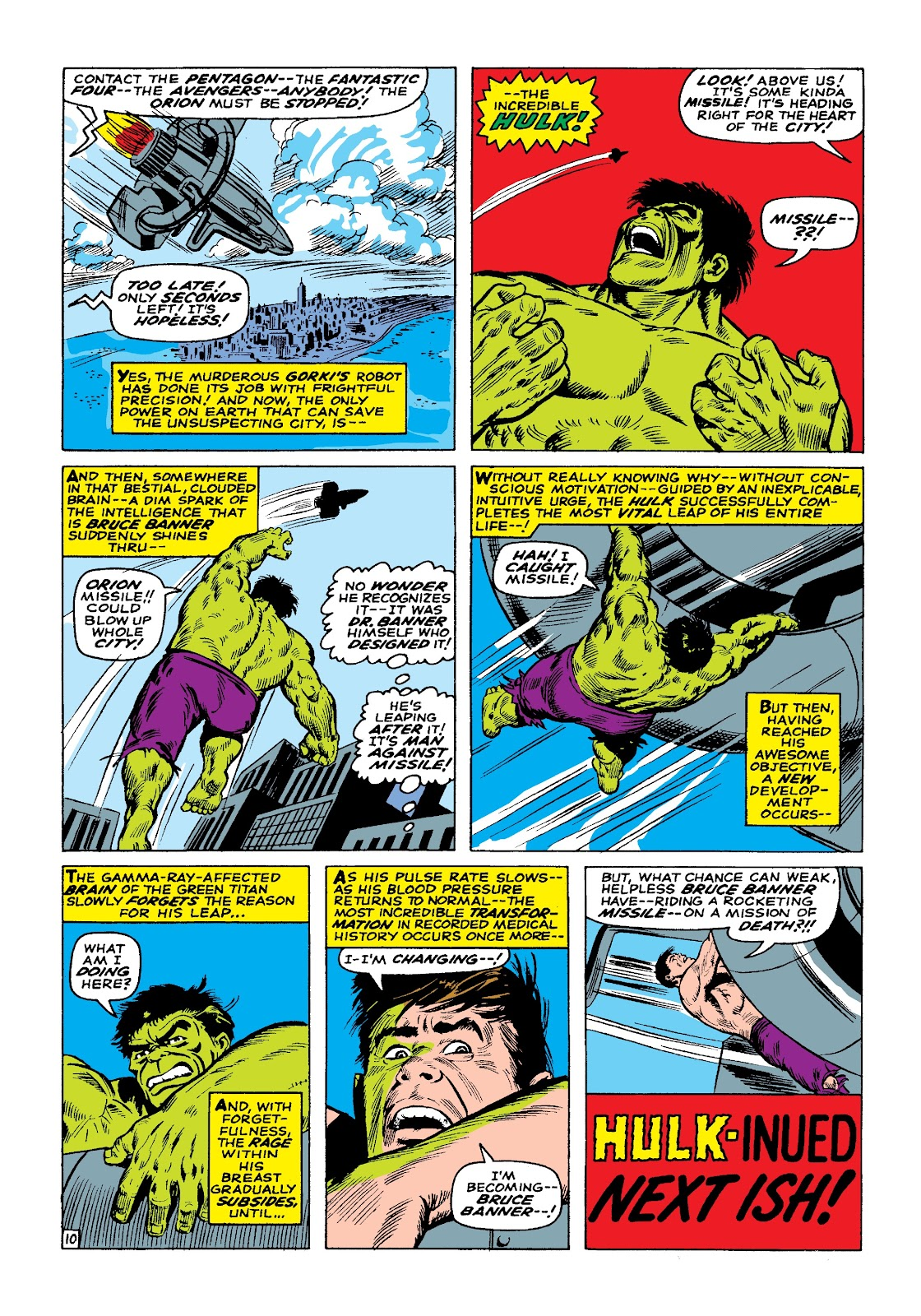 Read online Marvel Masterworks: The Incredible Hulk comic -  Issue # TPB 3 (Part 1) - 72