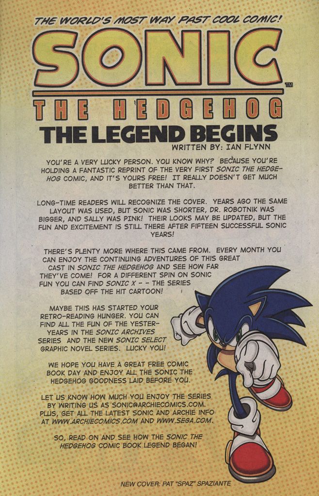Read online Sonic the Hedgehog Free Comic Book Day Edition comic -  Issue # Special 2 - 3