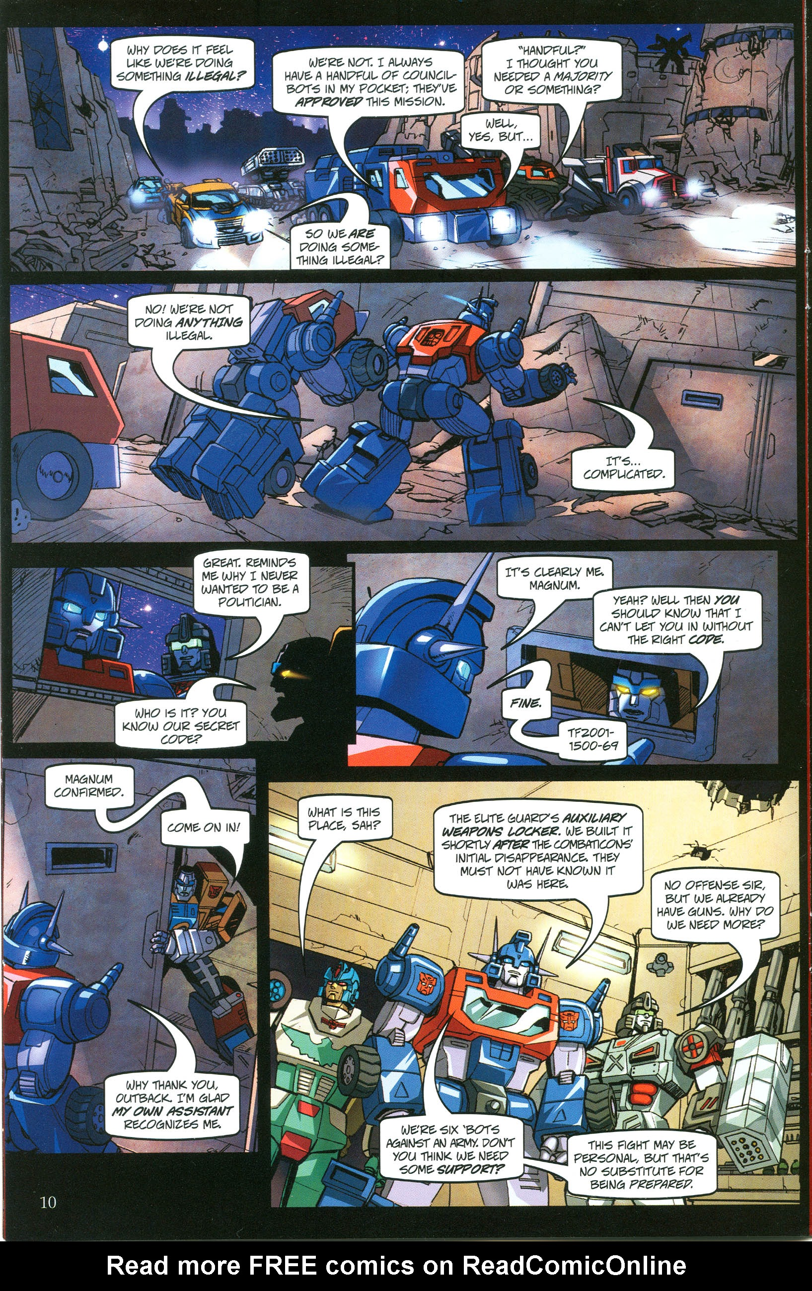 Read online Transformers: Collectors' Club comic -  Issue #38 - 10