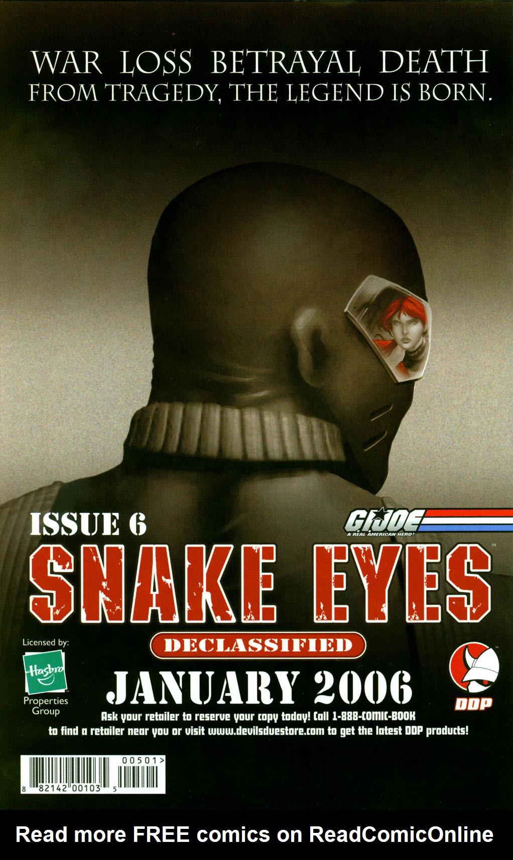 Read online Snake Eyes: Declassified comic -  Issue #5 - 25