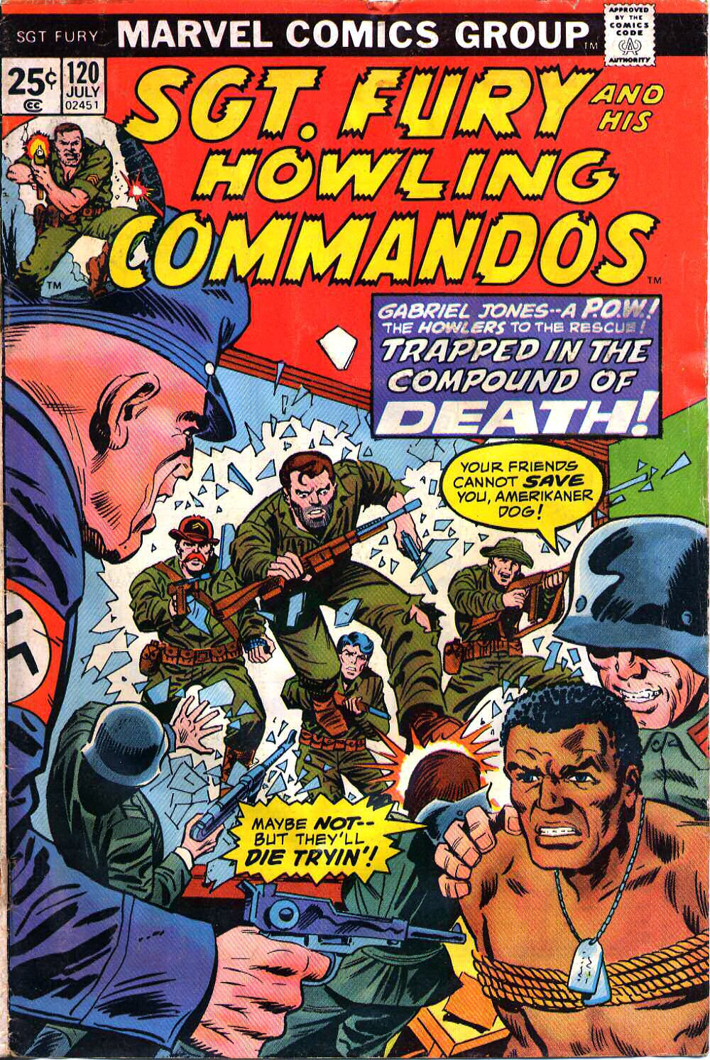 Read online Sgt. Fury comic -  Issue #120 - 1