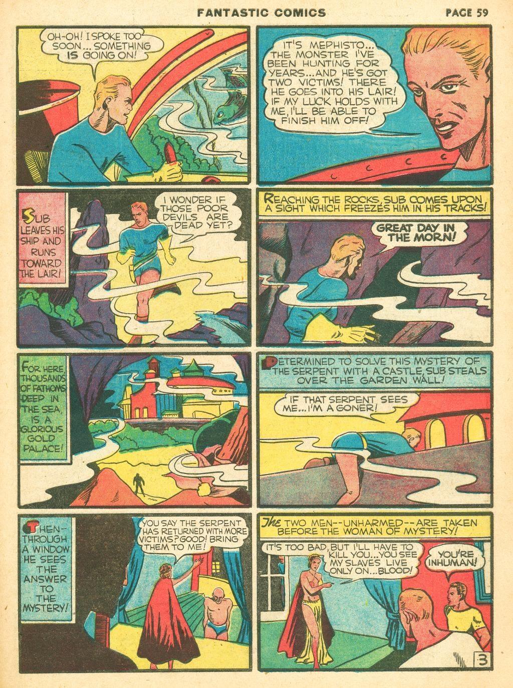 Read online Fantastic Comics comic -  Issue #12 - 61