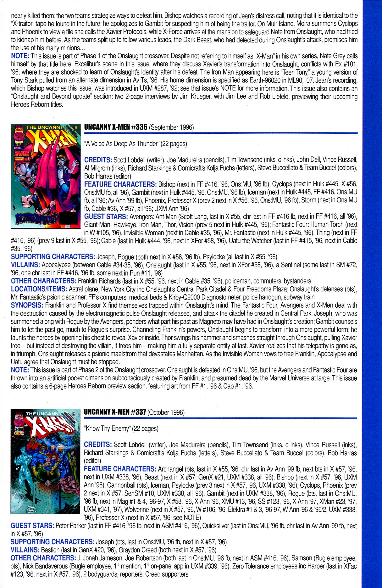 Read online Official Index to the Marvel Universe comic -  Issue #8 - 65