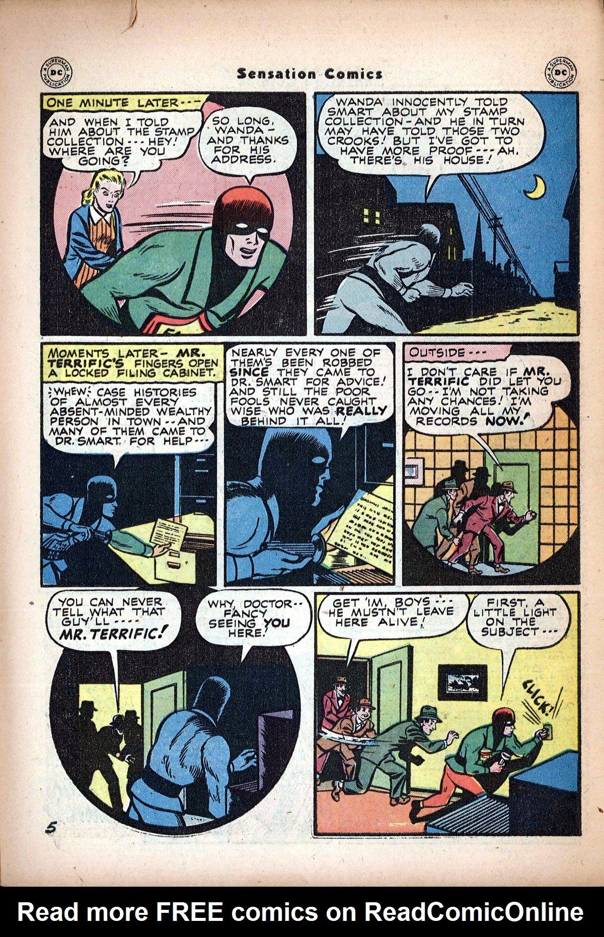 Read online Sensation (Mystery) Comics comic -  Issue #62 - 39