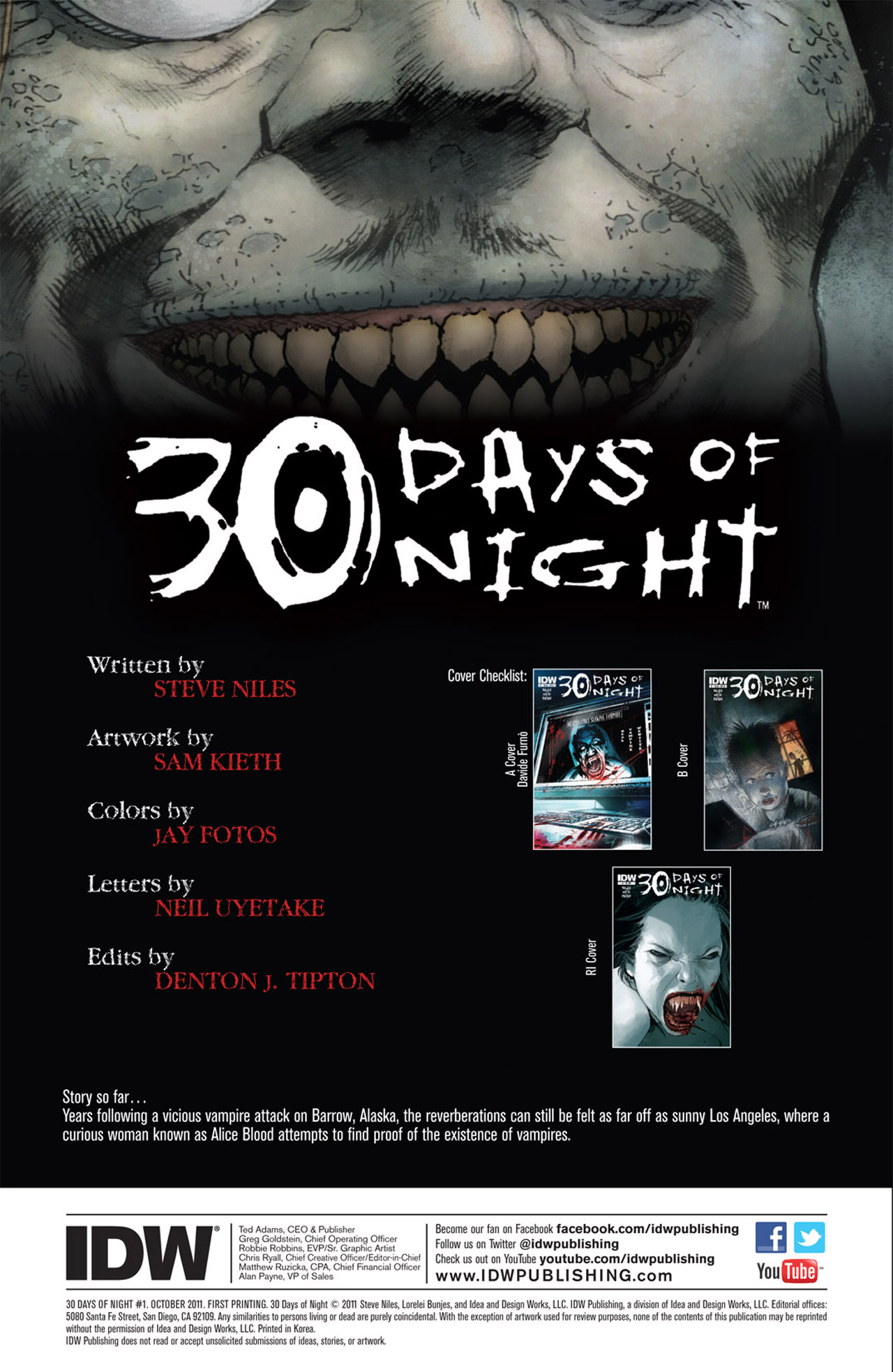 Read online 30 Days of Night (2011) comic -  Issue #1 - 4