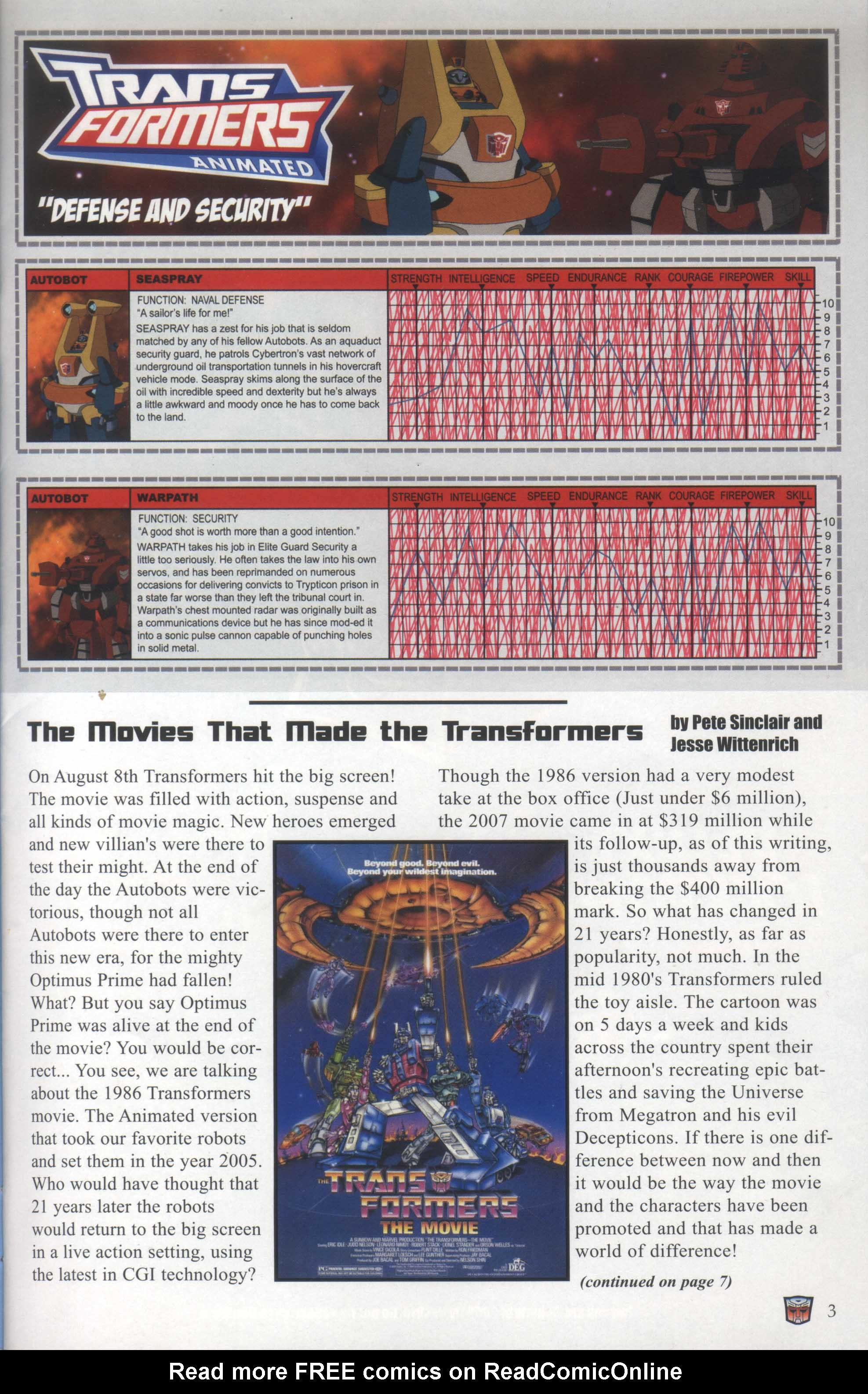 Read online Transformers: Collectors' Club comic -  Issue #29 - 3