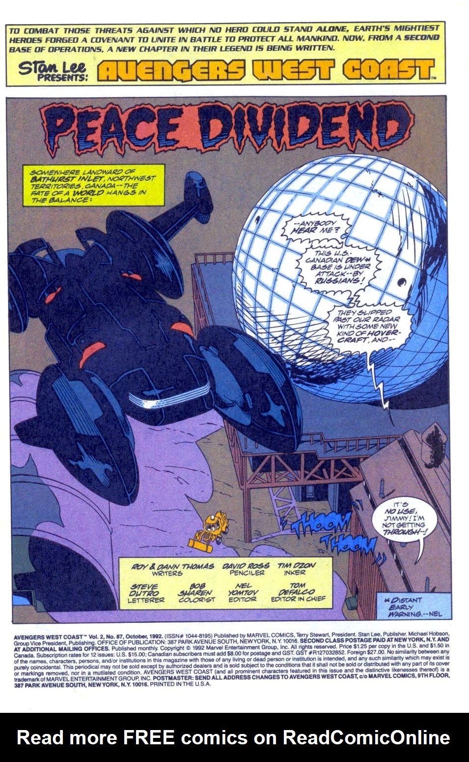 Avengers West Coast (1989) 87 Page 2