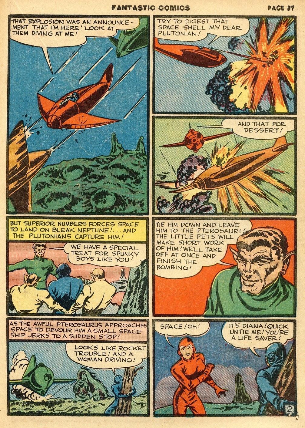 Read online Fantastic Comics comic -  Issue #10 - 38